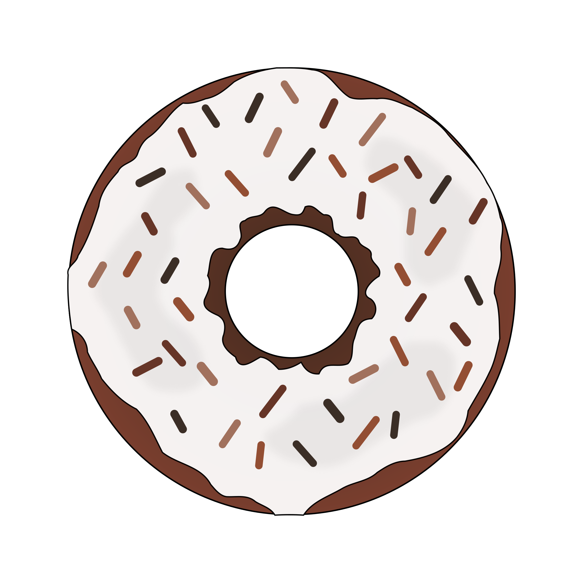 Brown Donut by PinkJellyfish