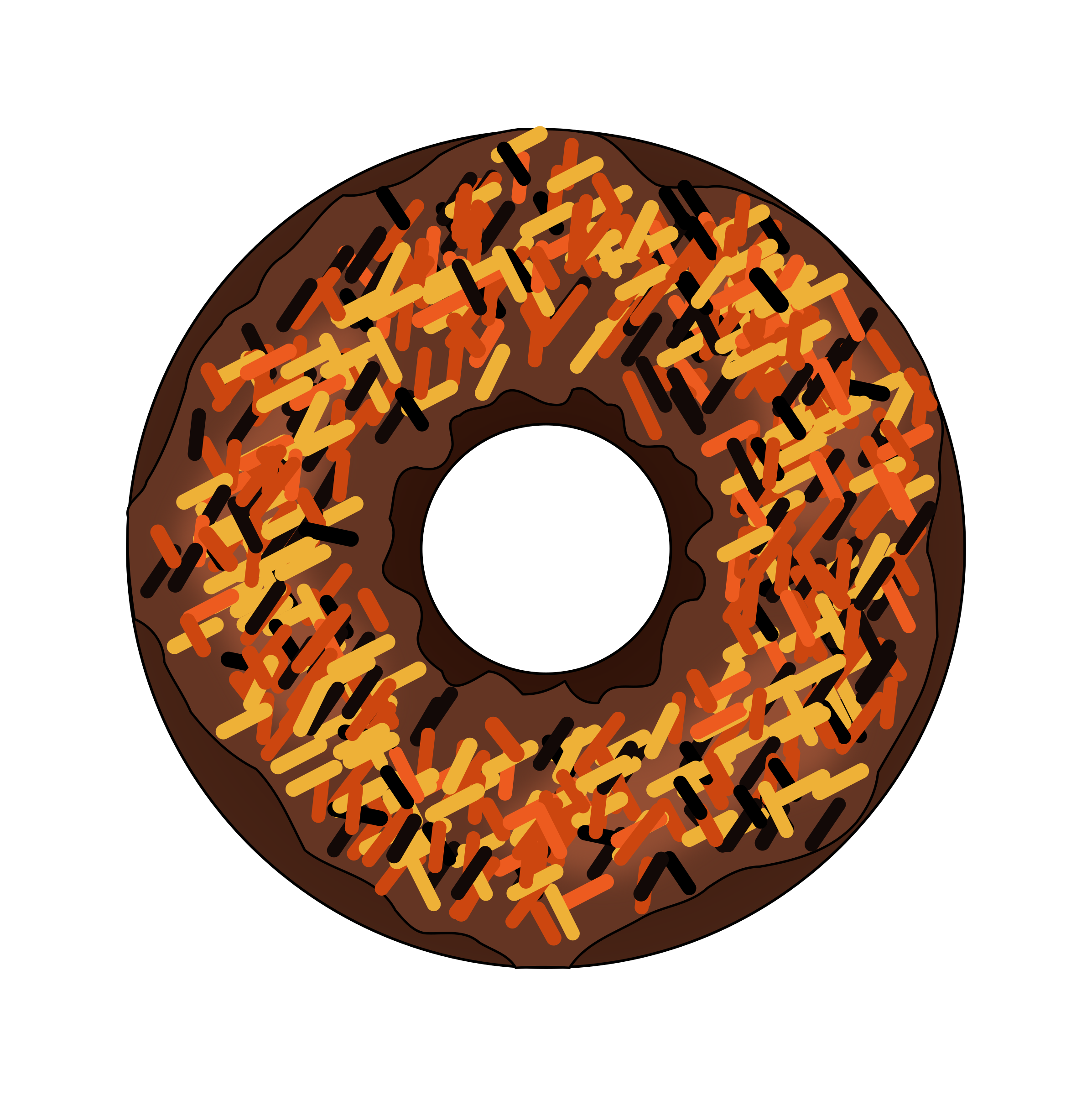 Fall or Halloween Donut by PinkJellyfish