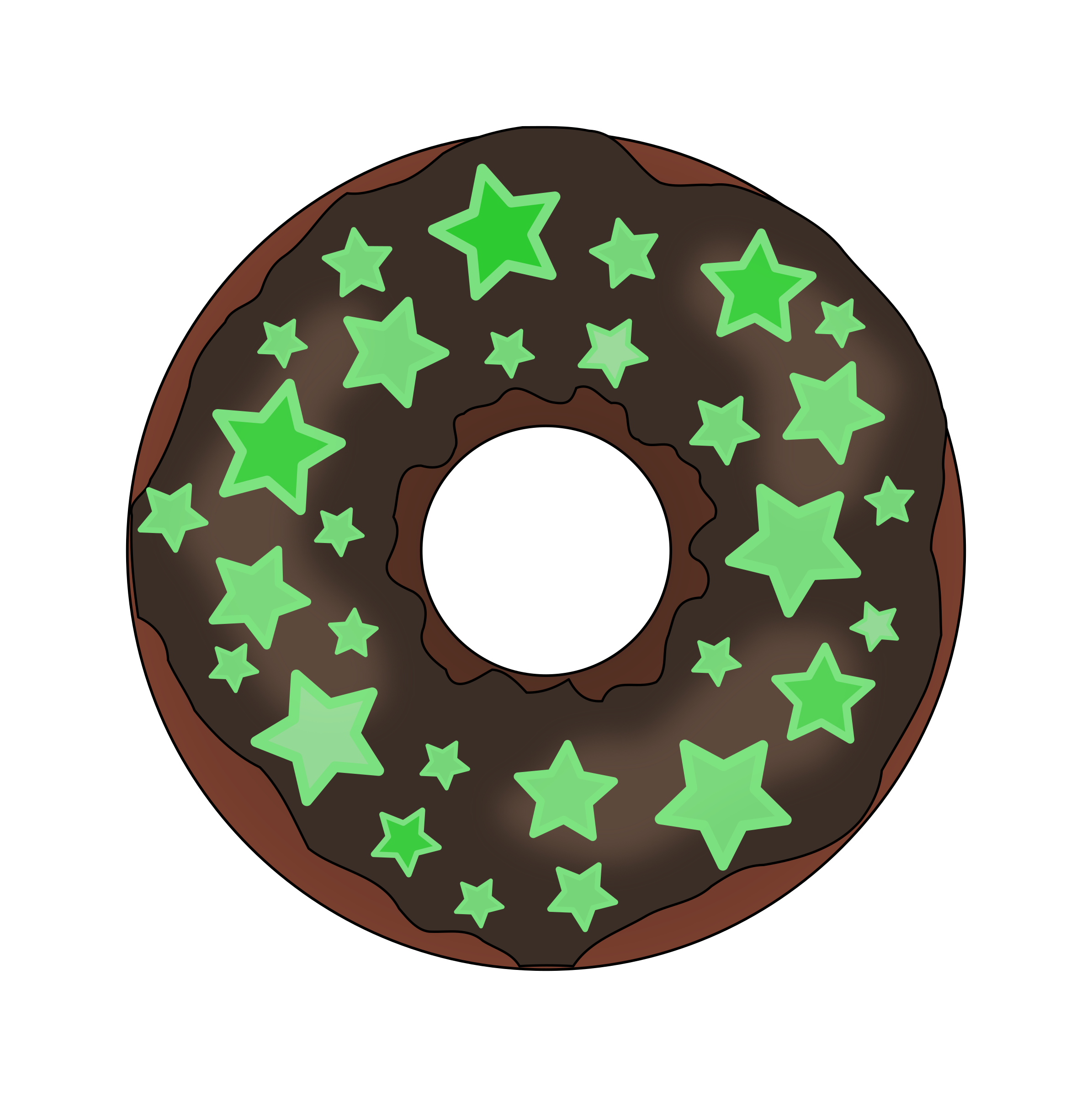 Glow in the Dark Donut by PinkJellyfish