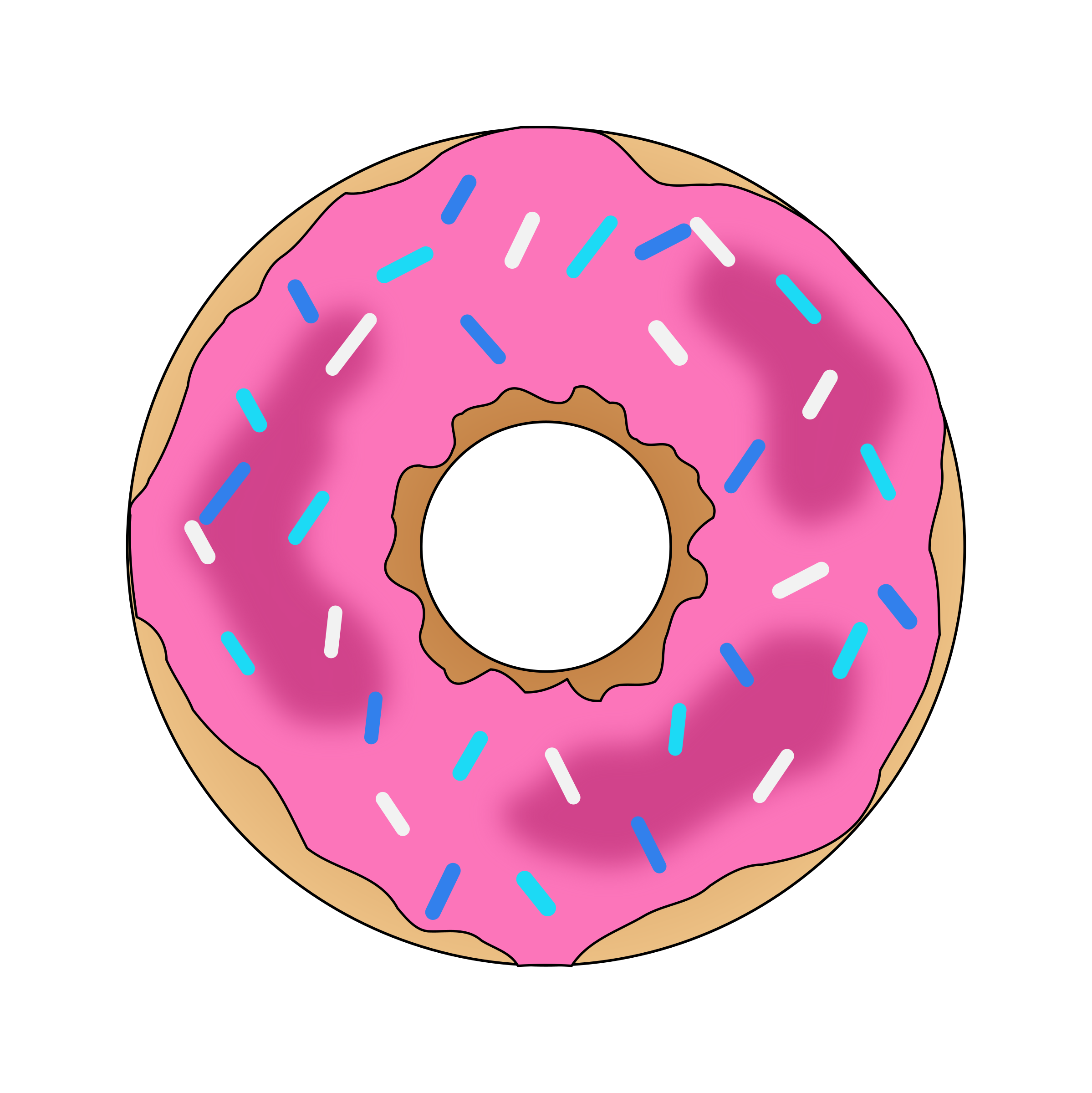 Pink Donut by PinkJellyfish