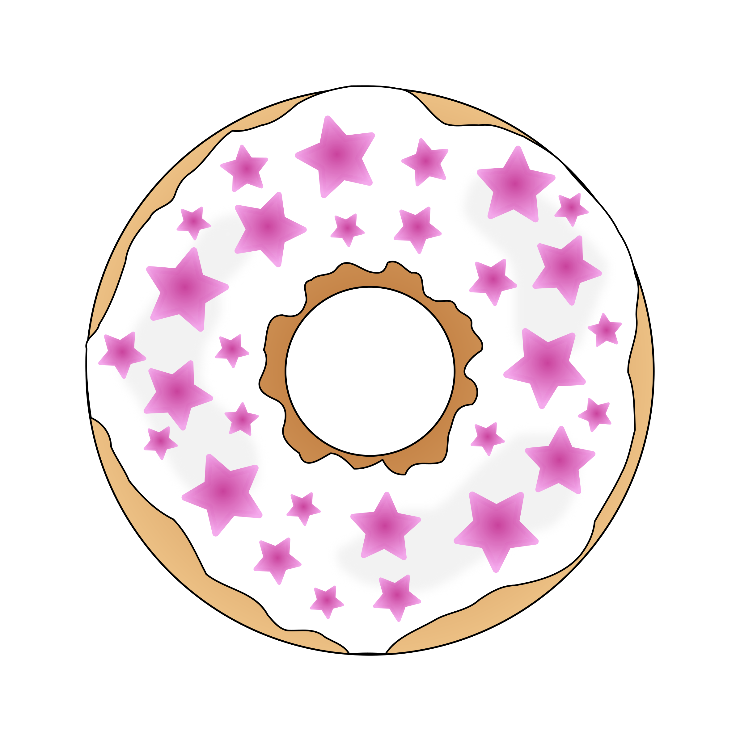 Pink Stars Donut by PinkJellyfish