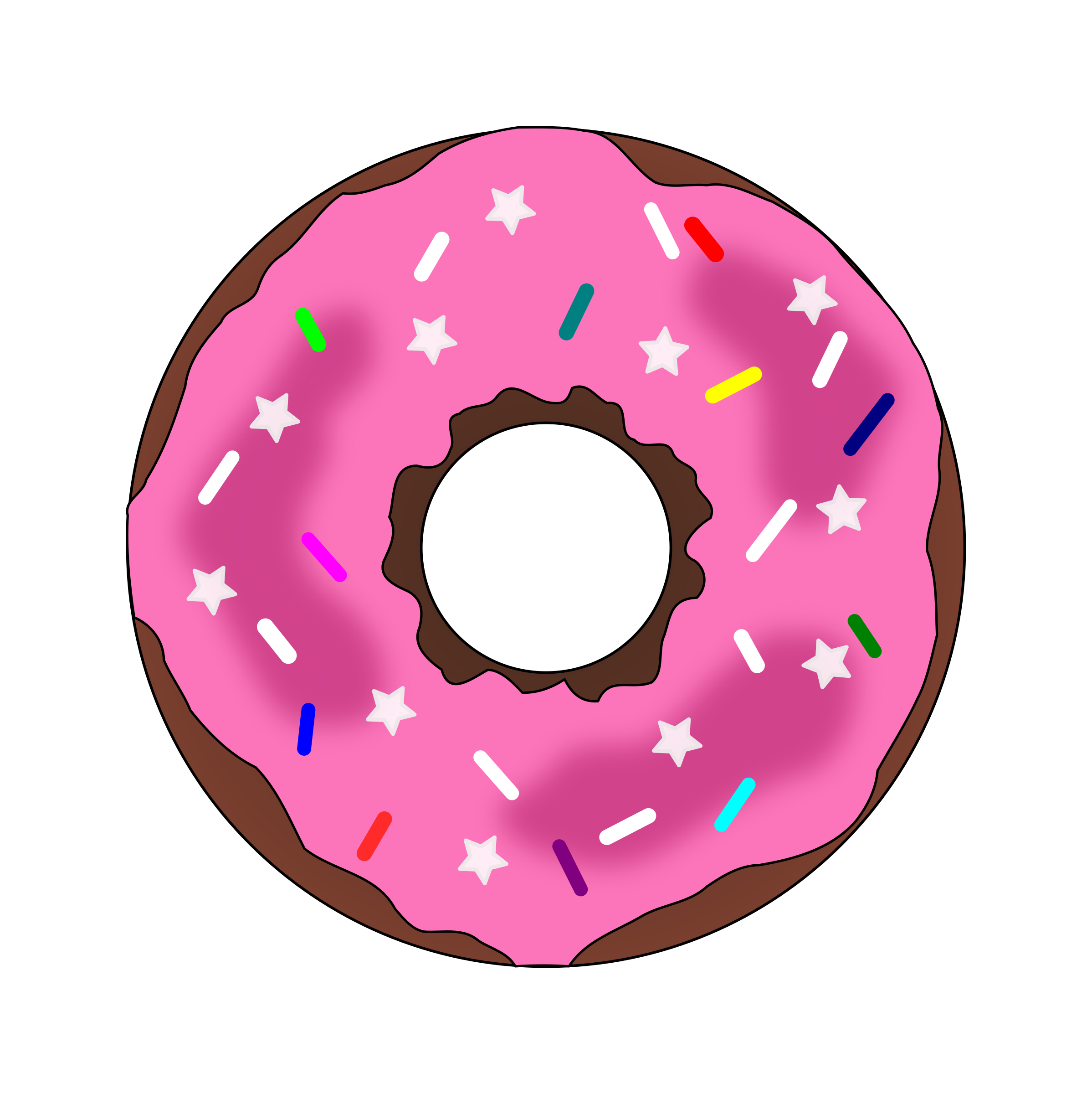 Stars and Sprinkles Donut by PinkJellyfish