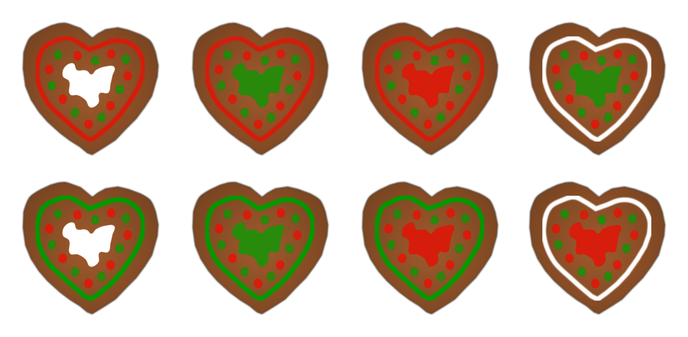Assorted Gingerbread Heart Cookies by PinkJellyfish
