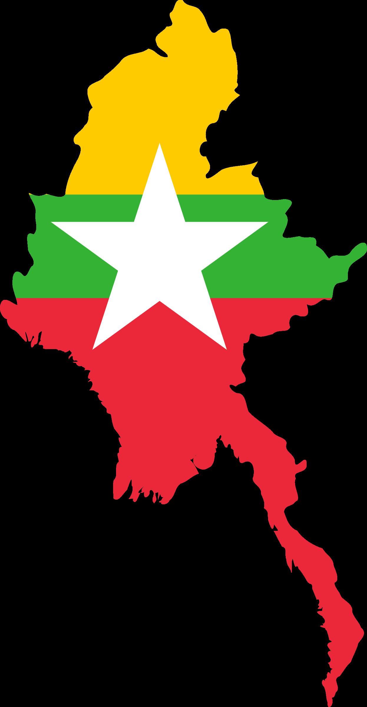 Clipart - Myanmar outline 2