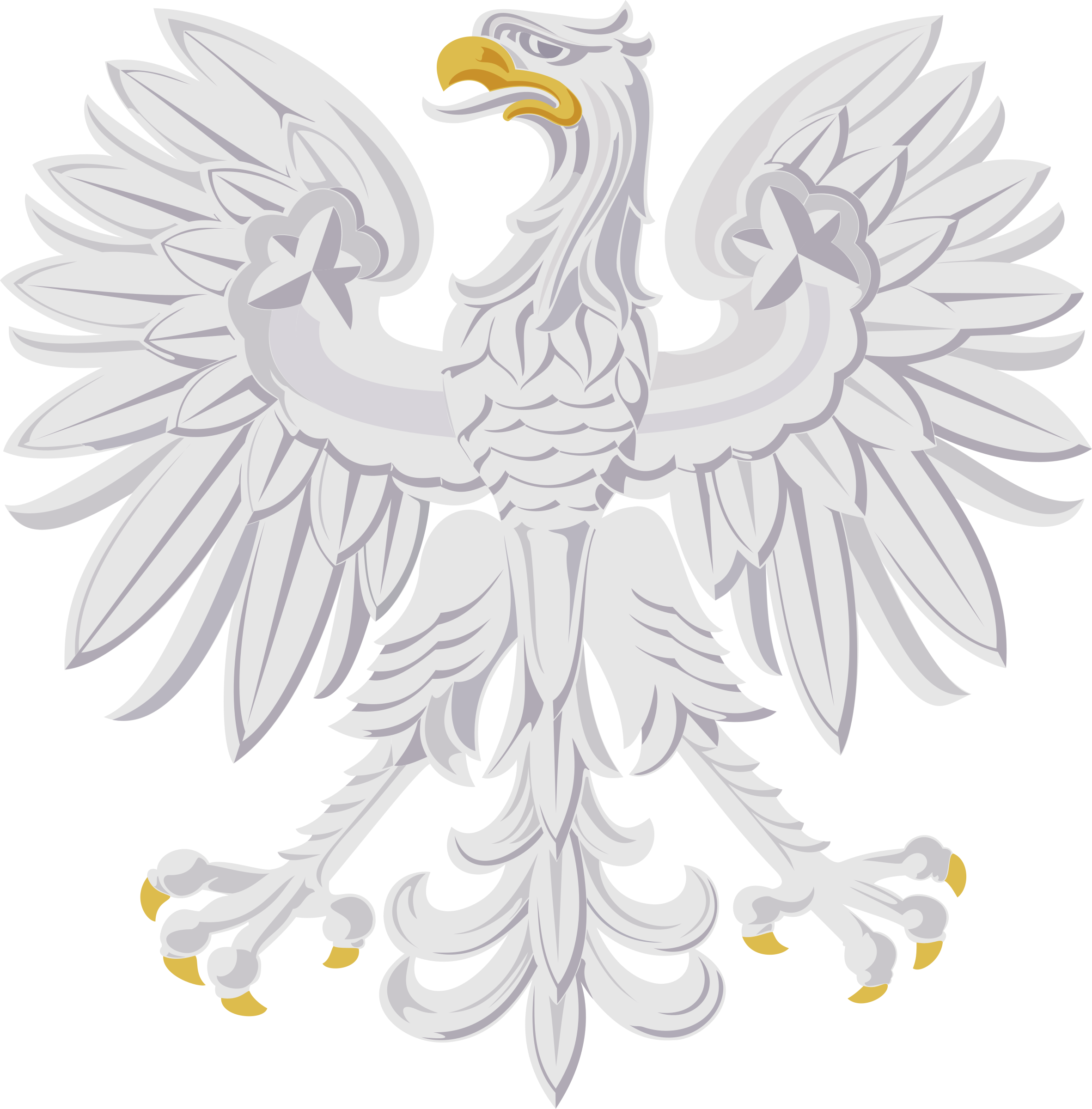 Stylised eagle 4 by Firkin