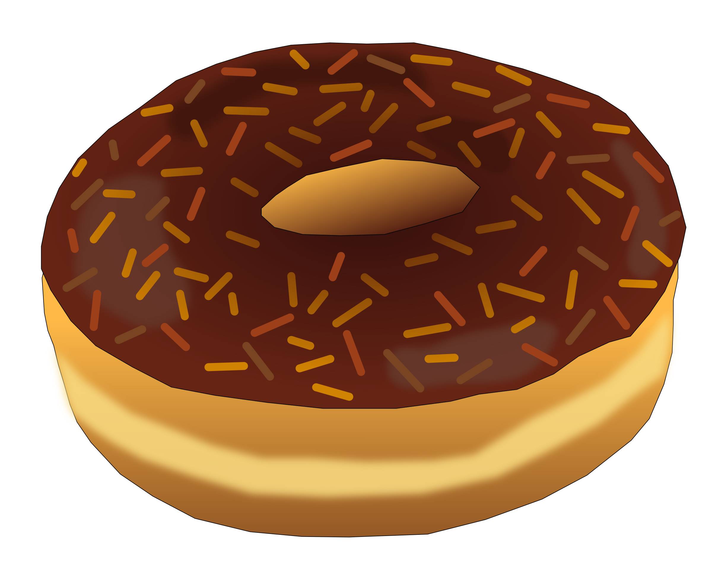 Brown Donut 2 by PinkJellyfish