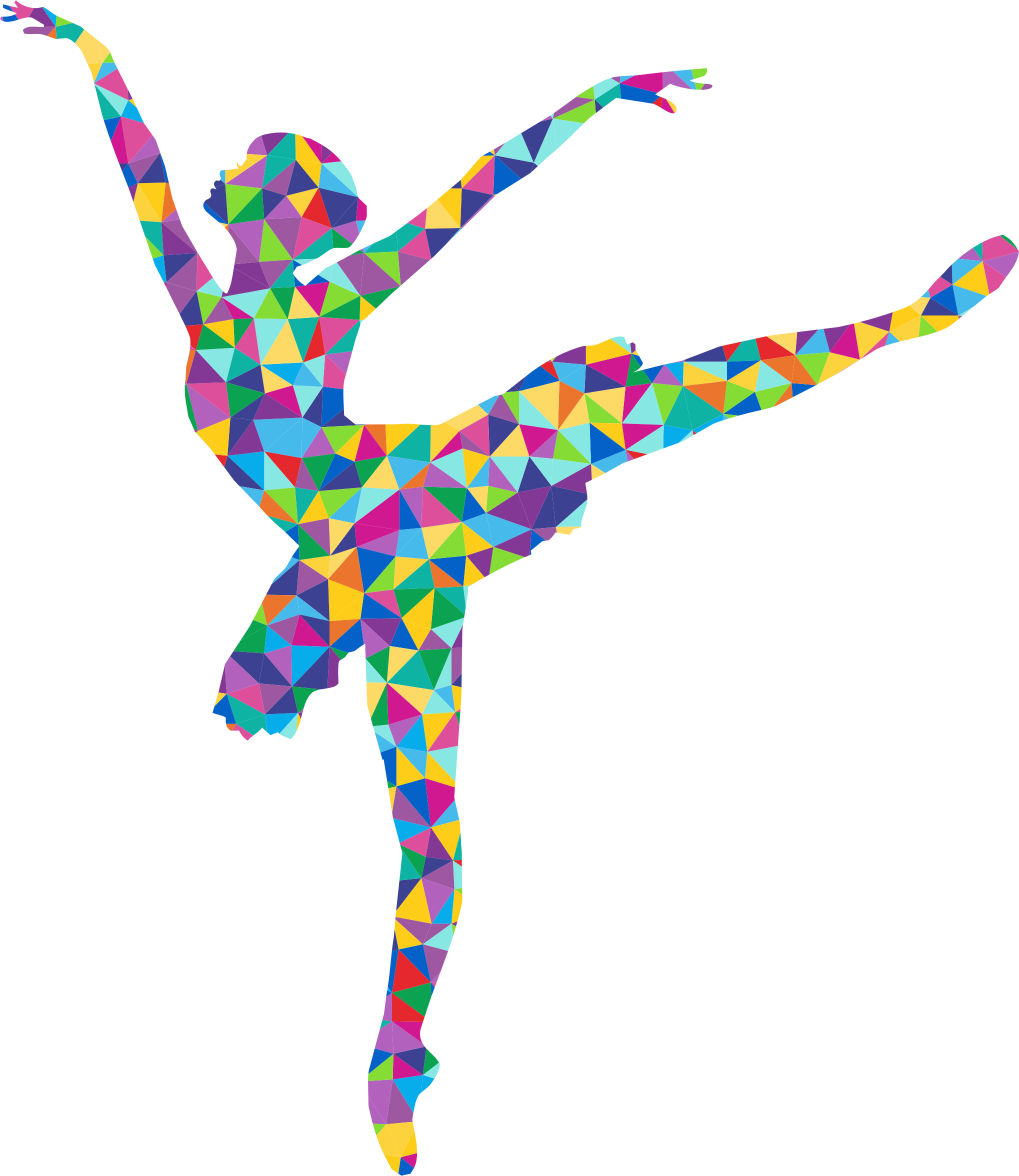 Prismatic Low Poly Graceful Ballerina Silhouette by GDJ