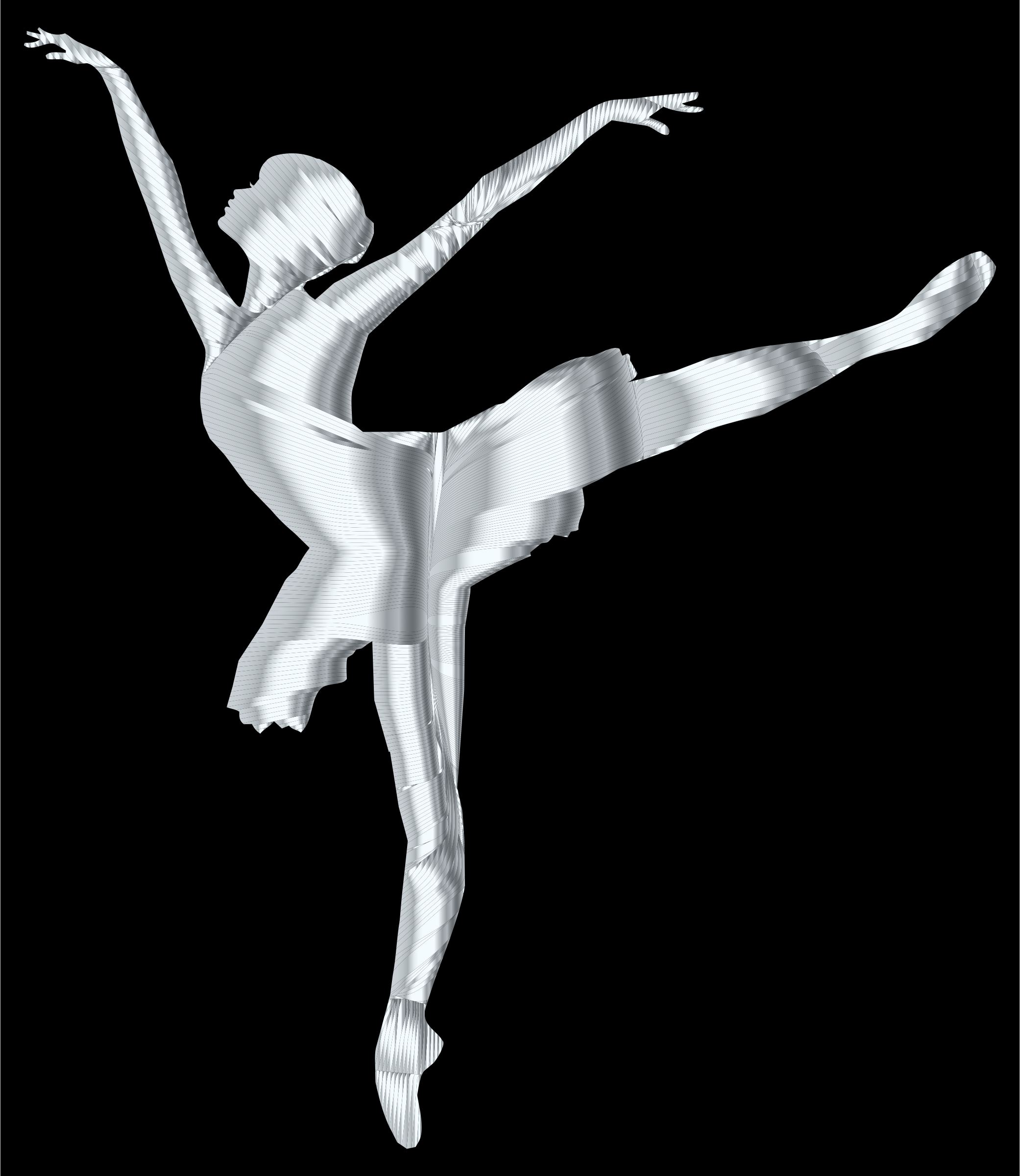 Silver Graceful Ballerina Silhouette by GDJ