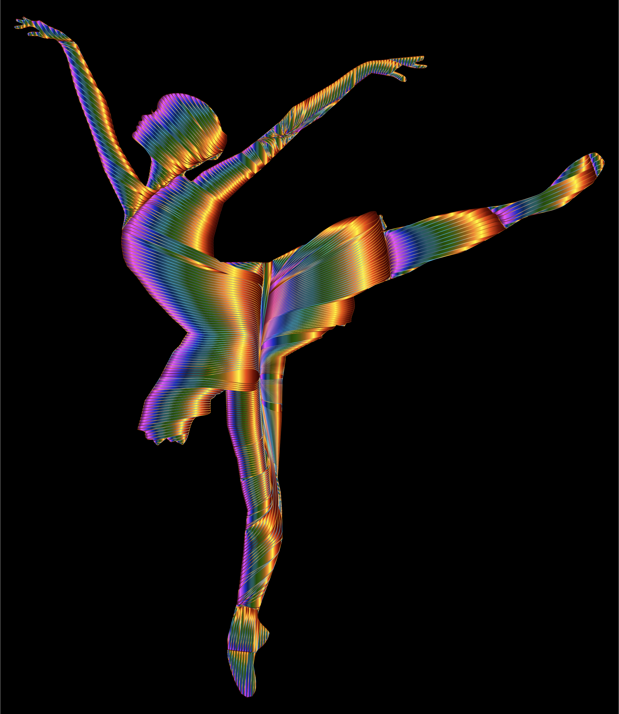 Chromatic Graceful Ballerina Silhouette by GDJ