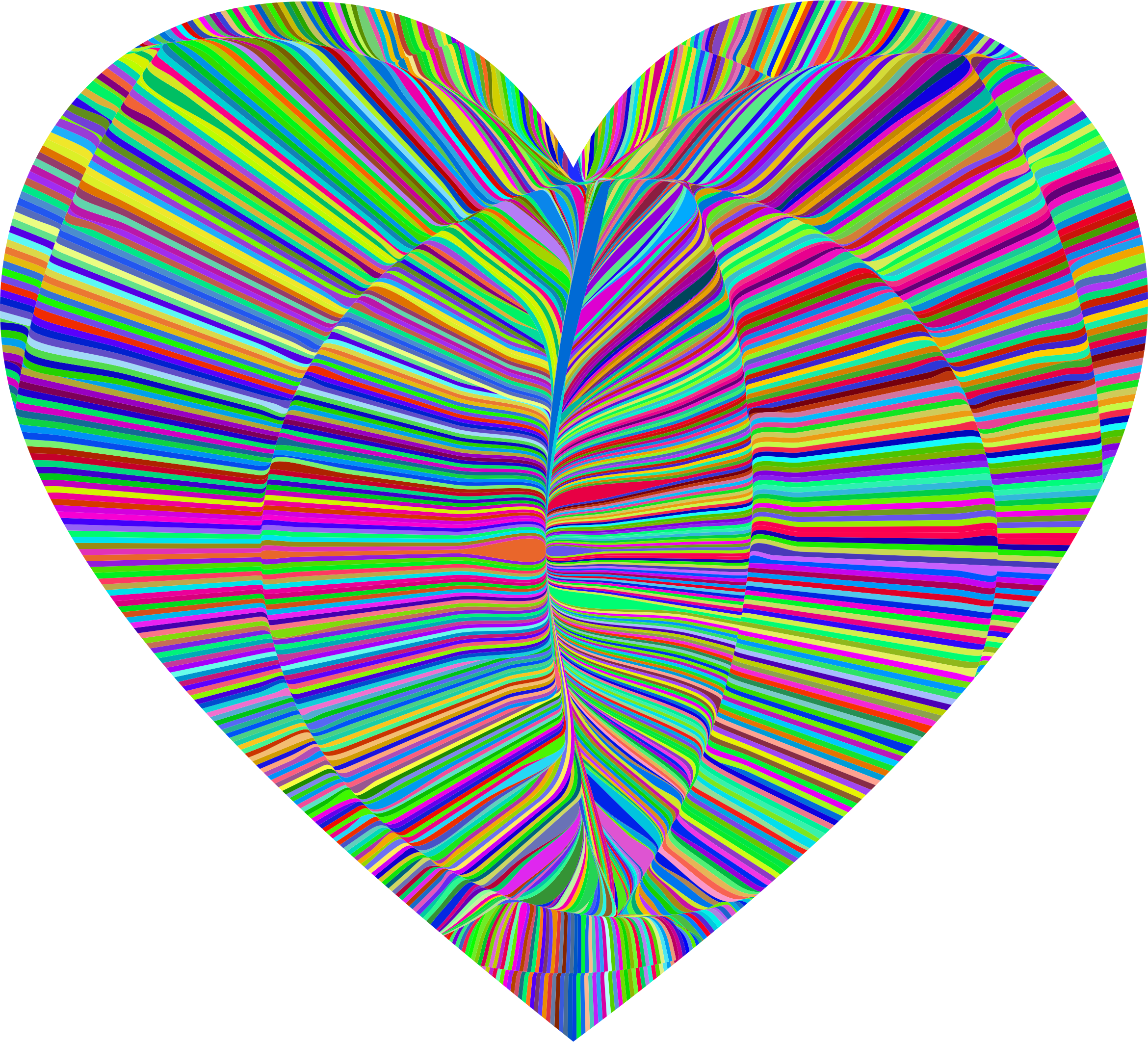 Psychedelic Folds Heart by GDJ