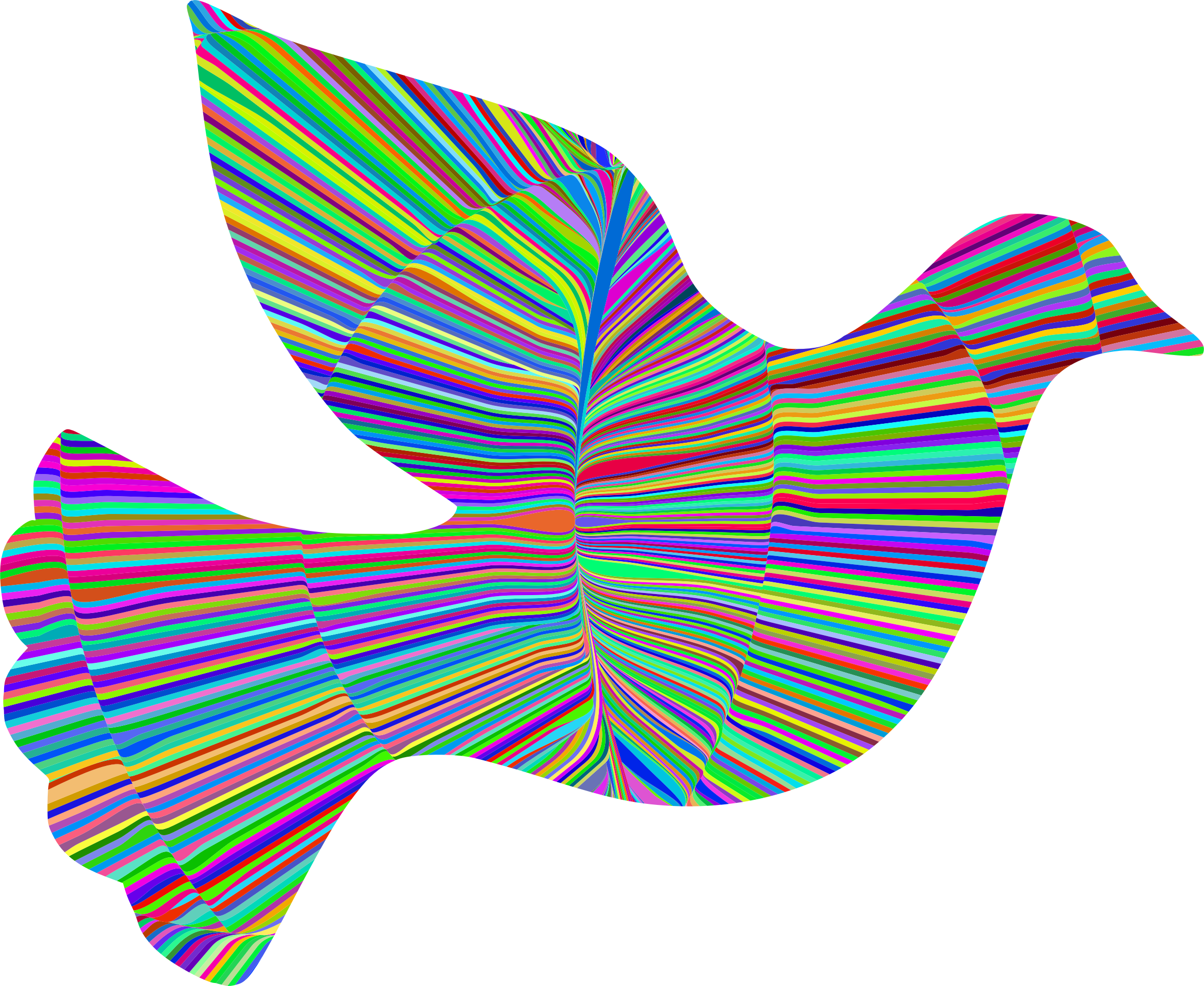 Psychedelic Waves Peace Dove by GDJ