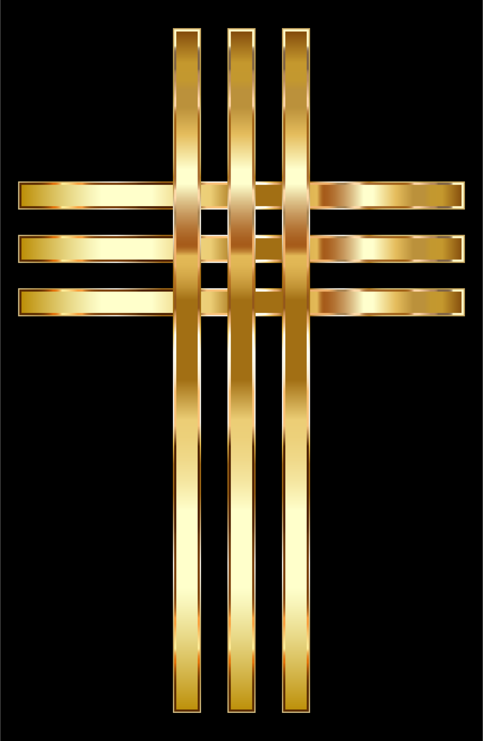 Clipart - Stylized Golden Cross