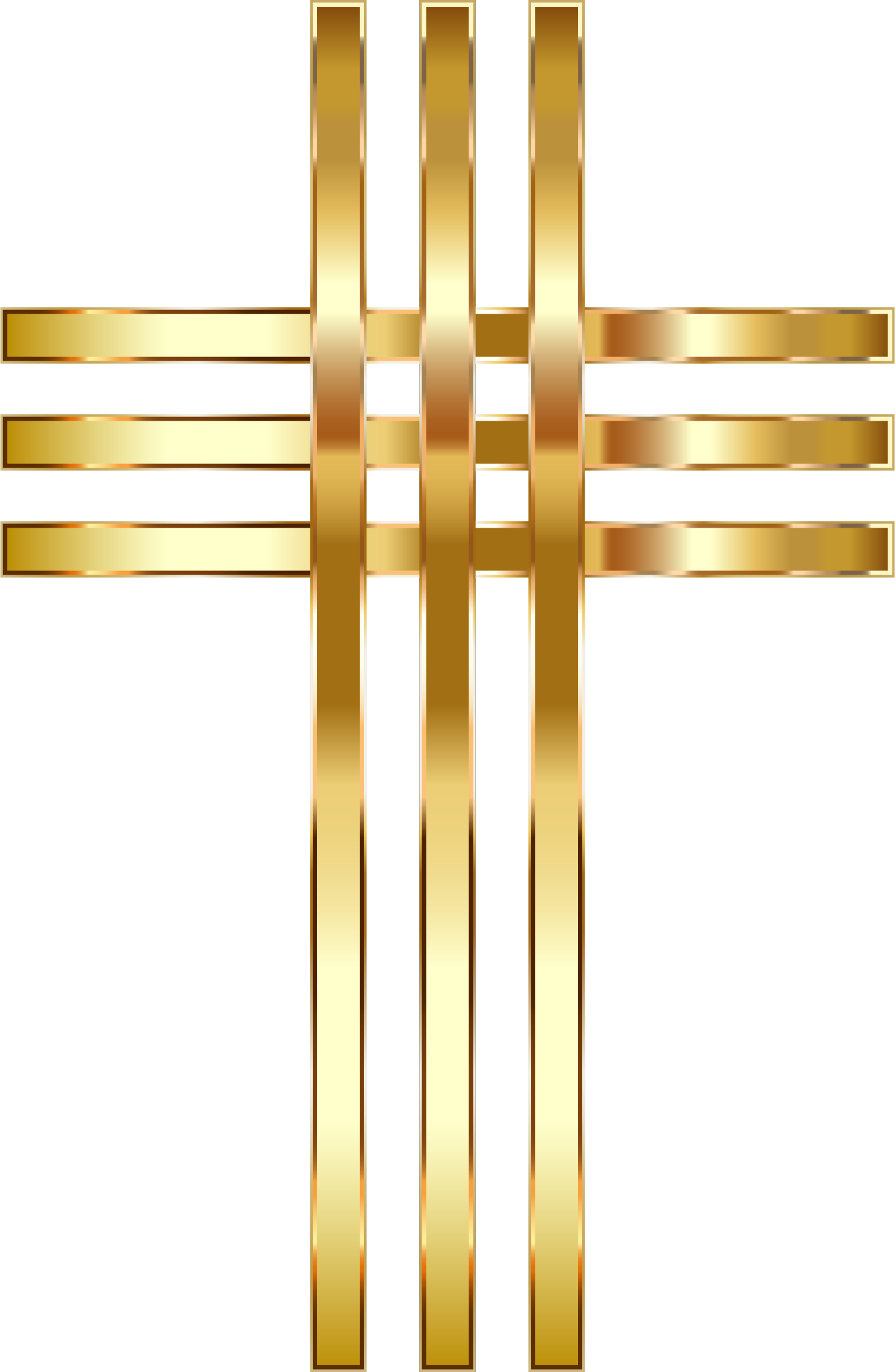 Stylized Golden Cross No Background by GDJ