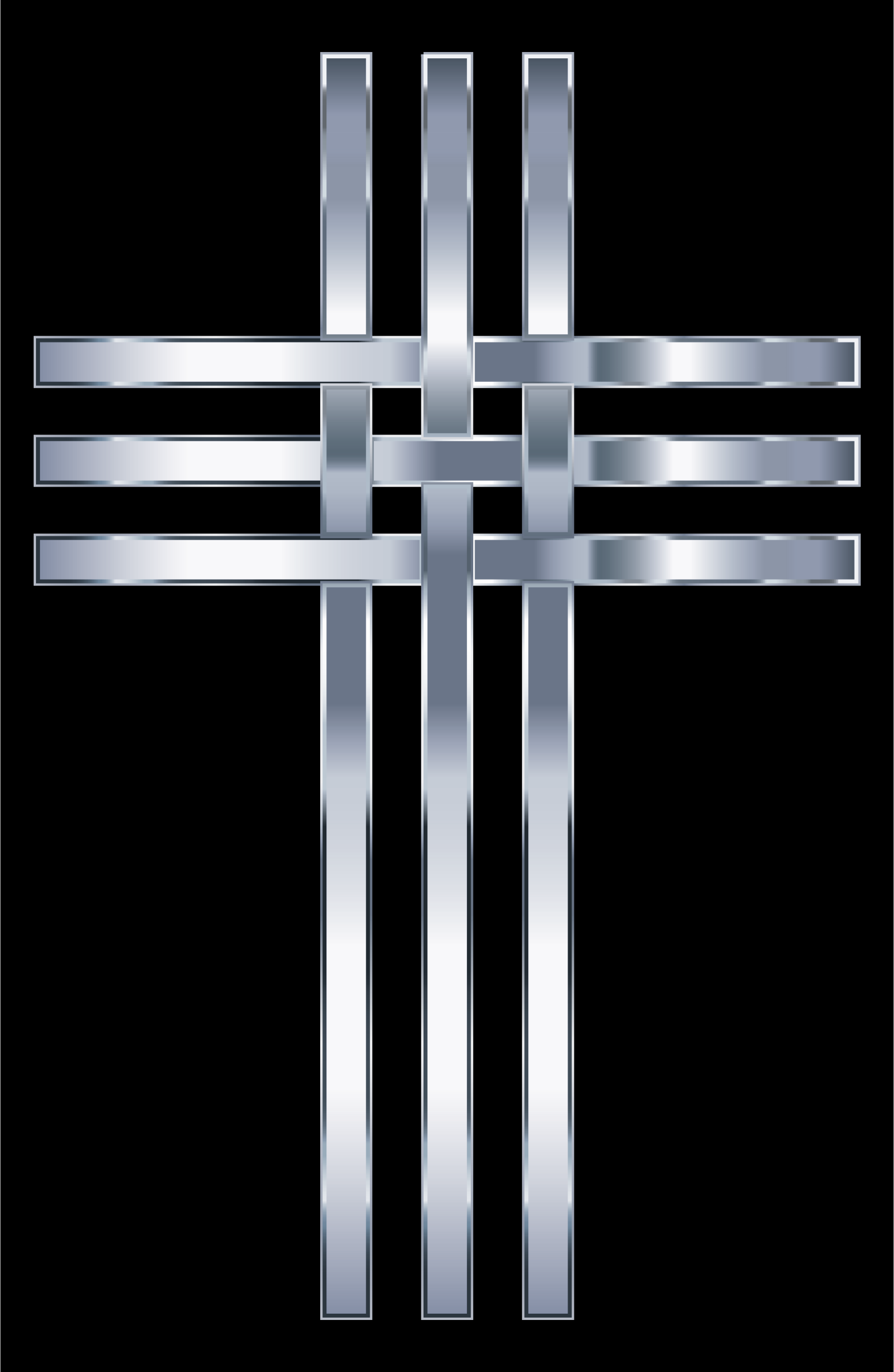 Interlocked Stylized Titanium Cross by GDJ