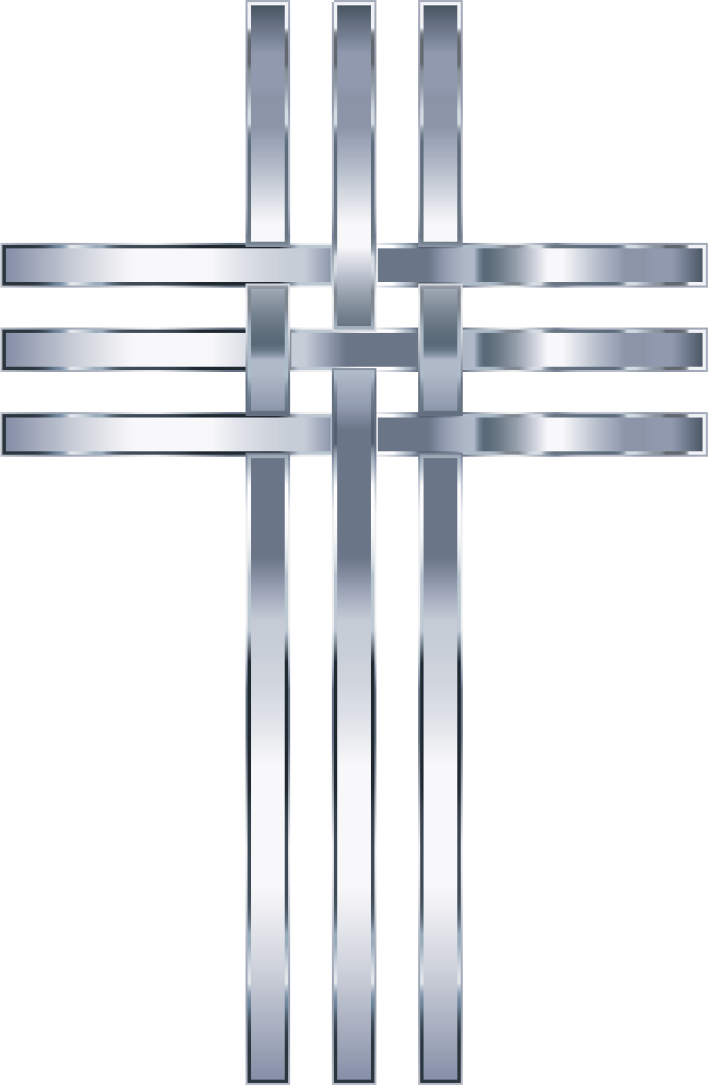 Interlocked Stylized Titanium Cross No Background by GDJ