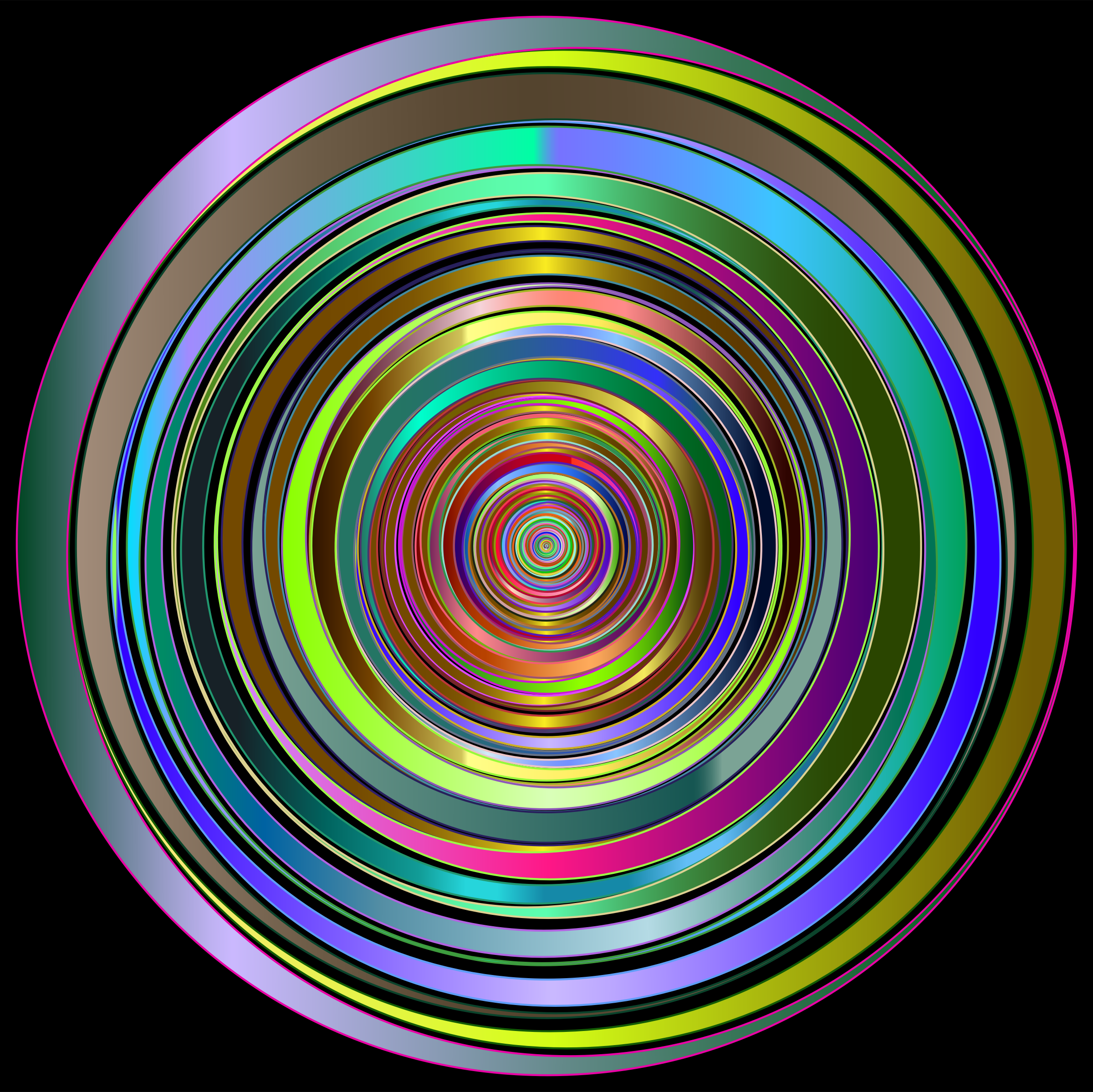 Prismatic Abstract Vortex 18 2 Variation 2 by GDJ