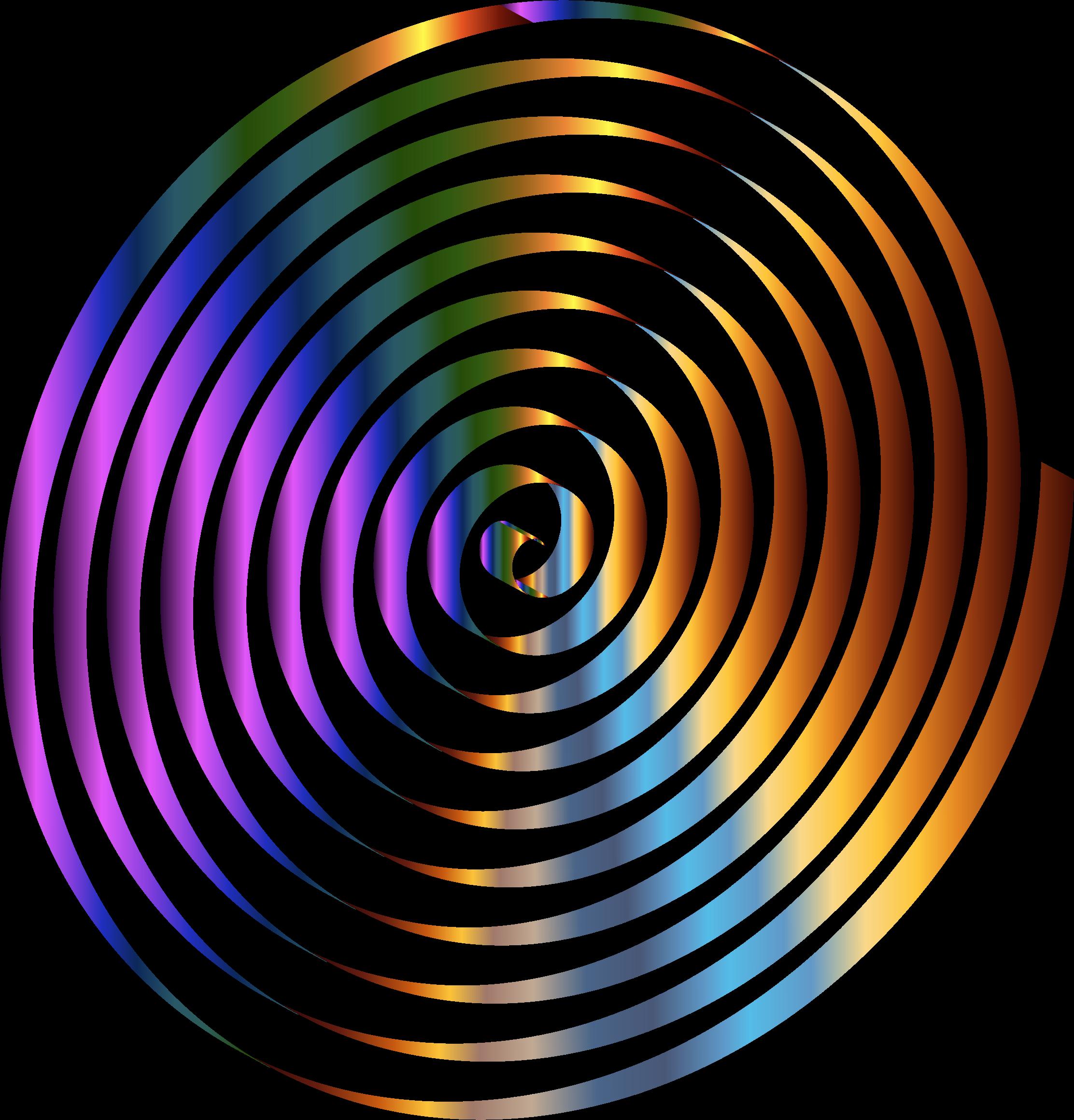 Chromatic 3d Spiral on Circle Clip Art