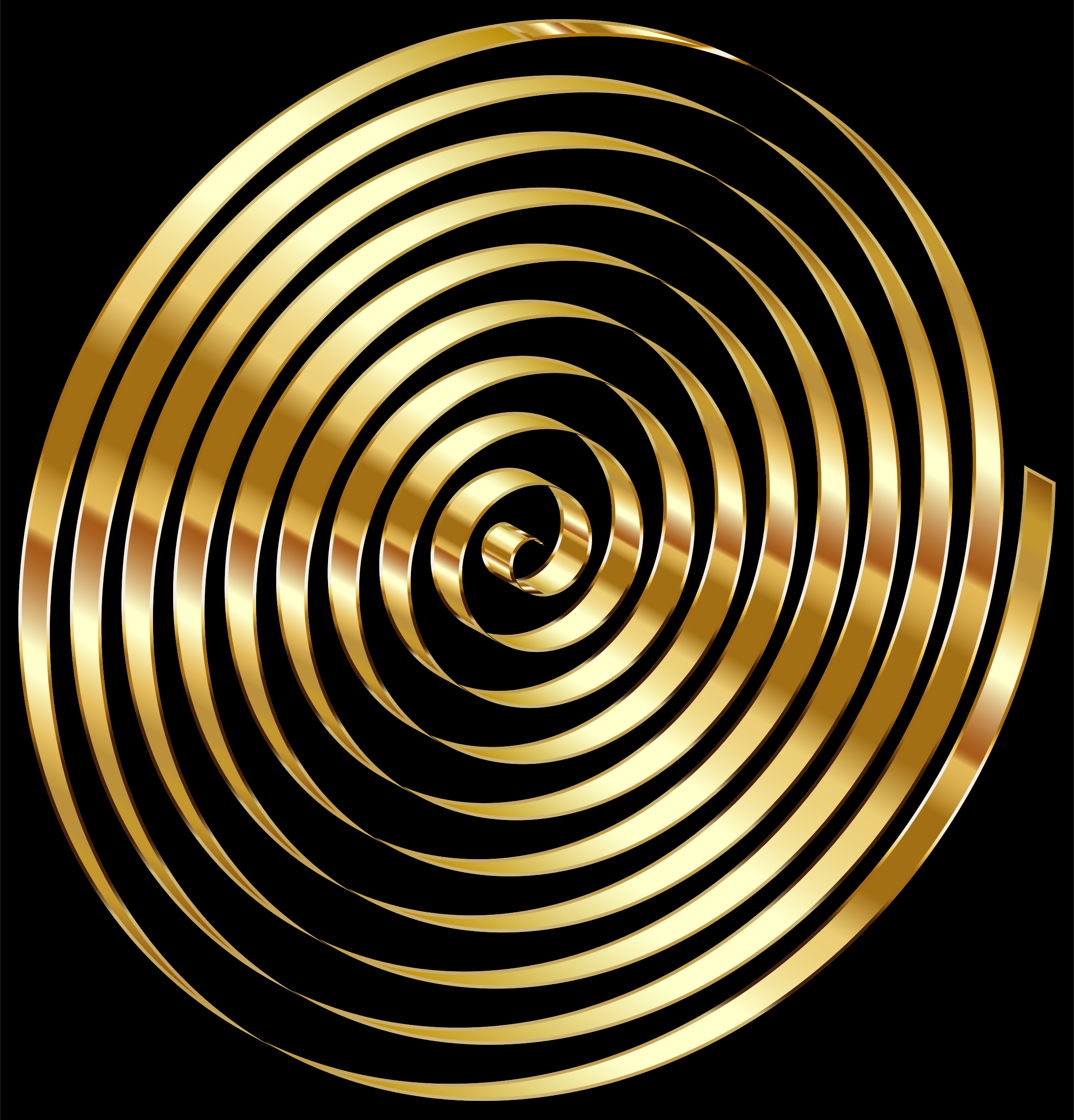 Gold 3D Spiral Variation 2 by GDJ