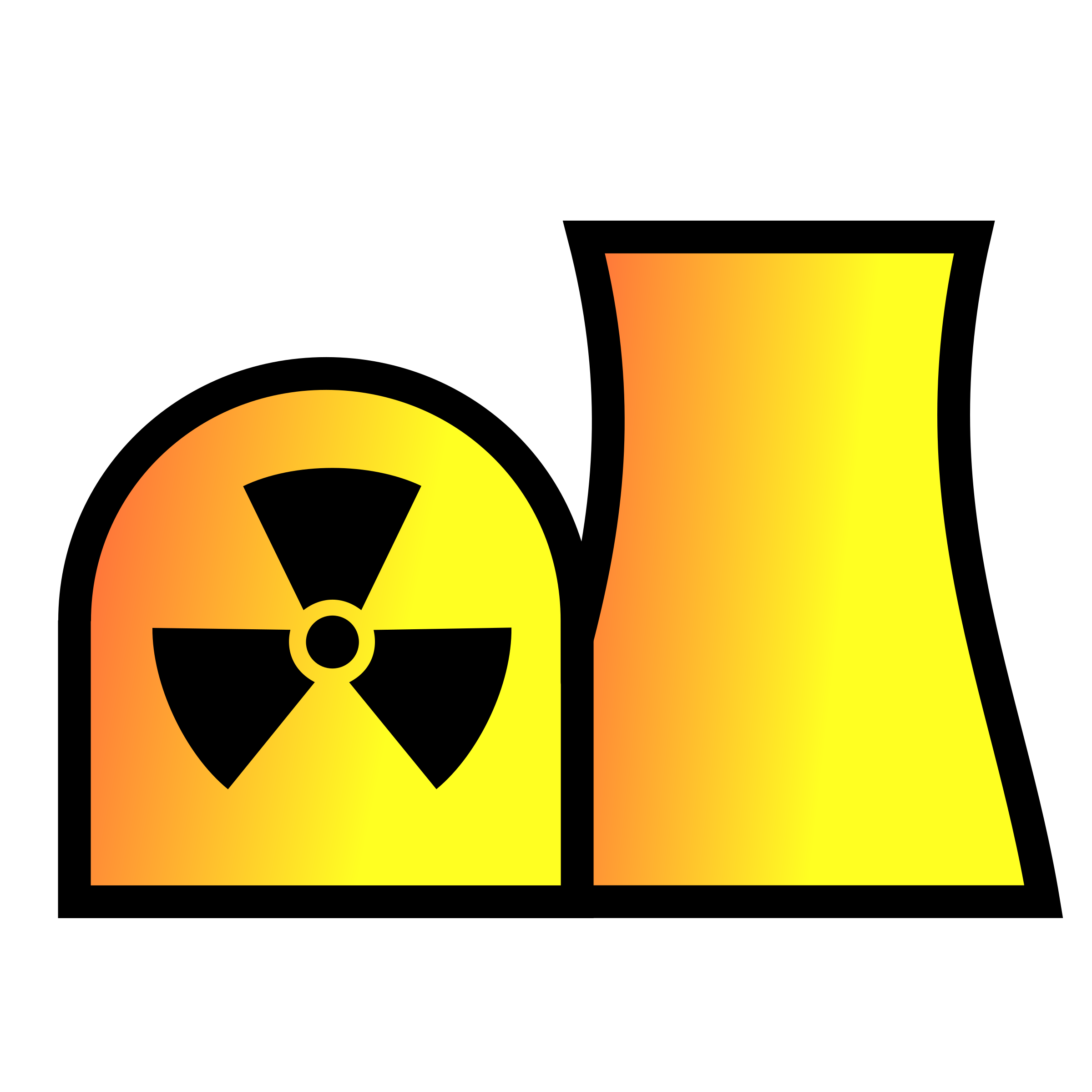 Nuclear power plant map symbol by Juhele