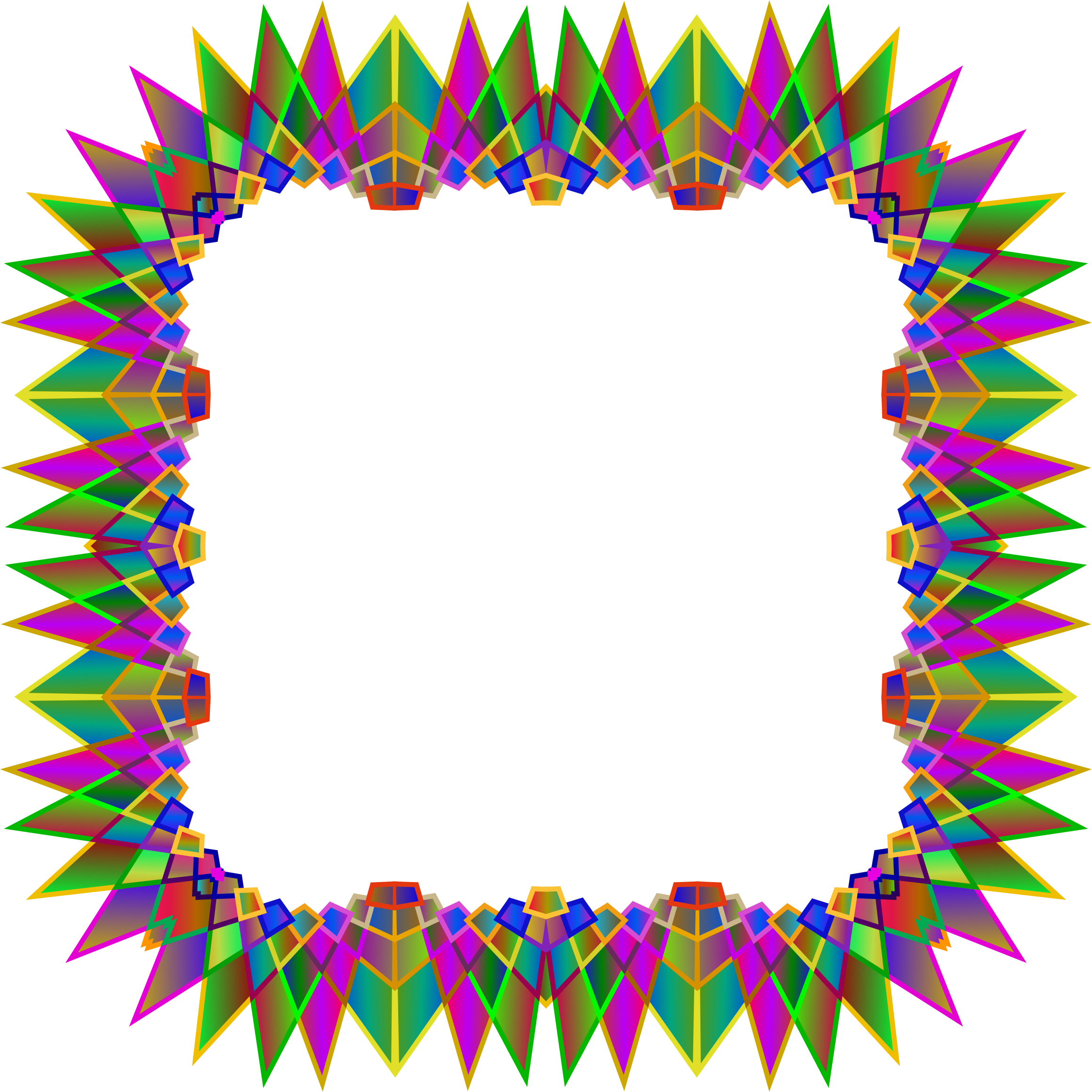 Prismatic MultiPoint Star Frame 4 by GDJ