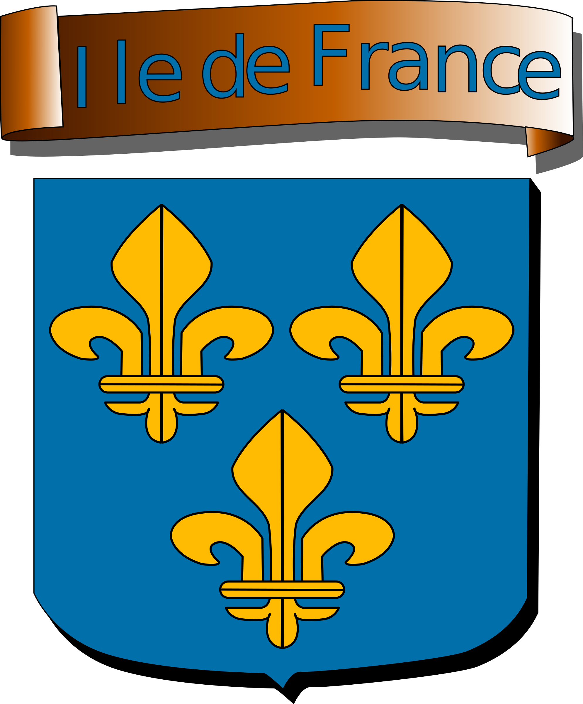 Ile de France - coat of arms by Anonymous