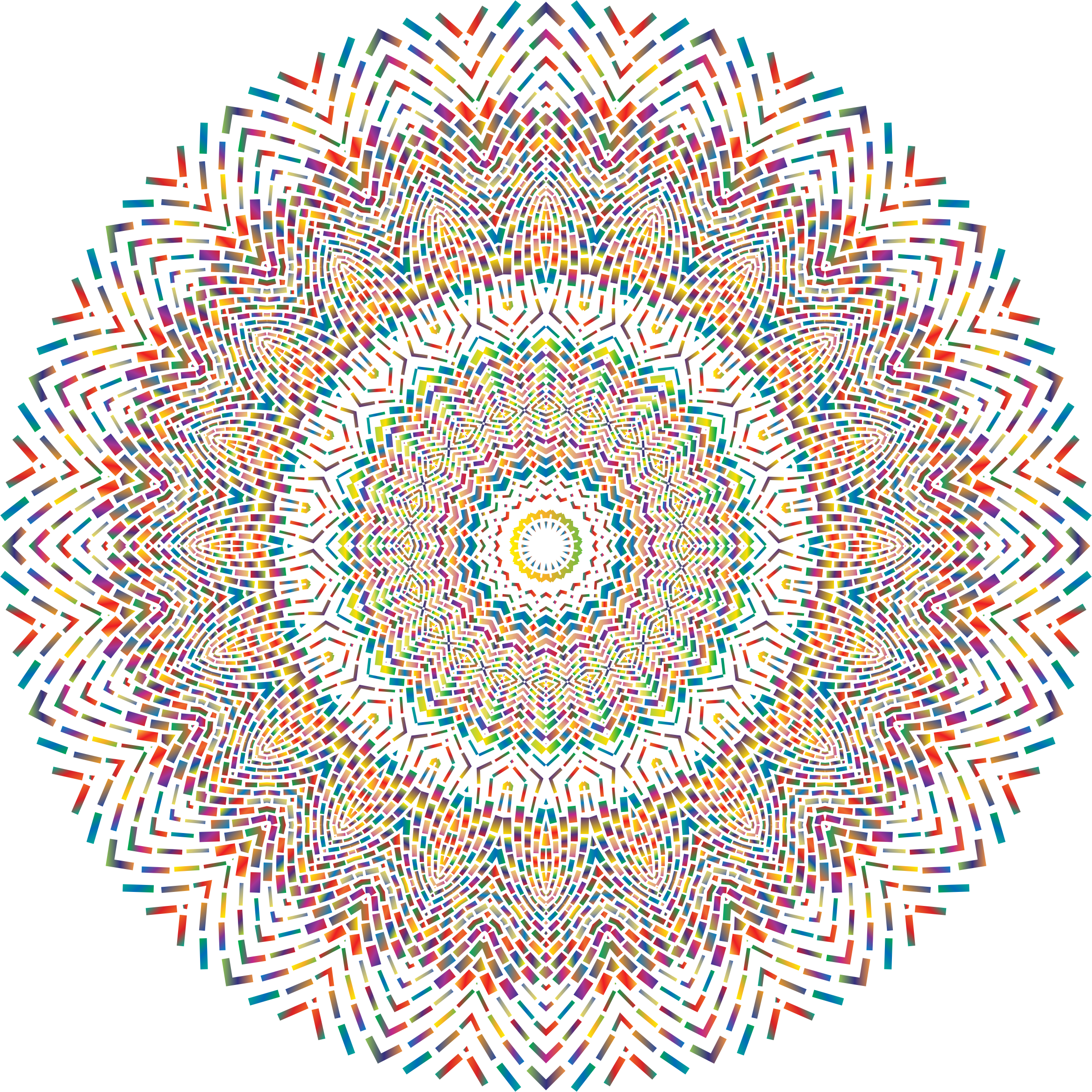 Prismatic Geometric Mandala 2 No Background by GDJ