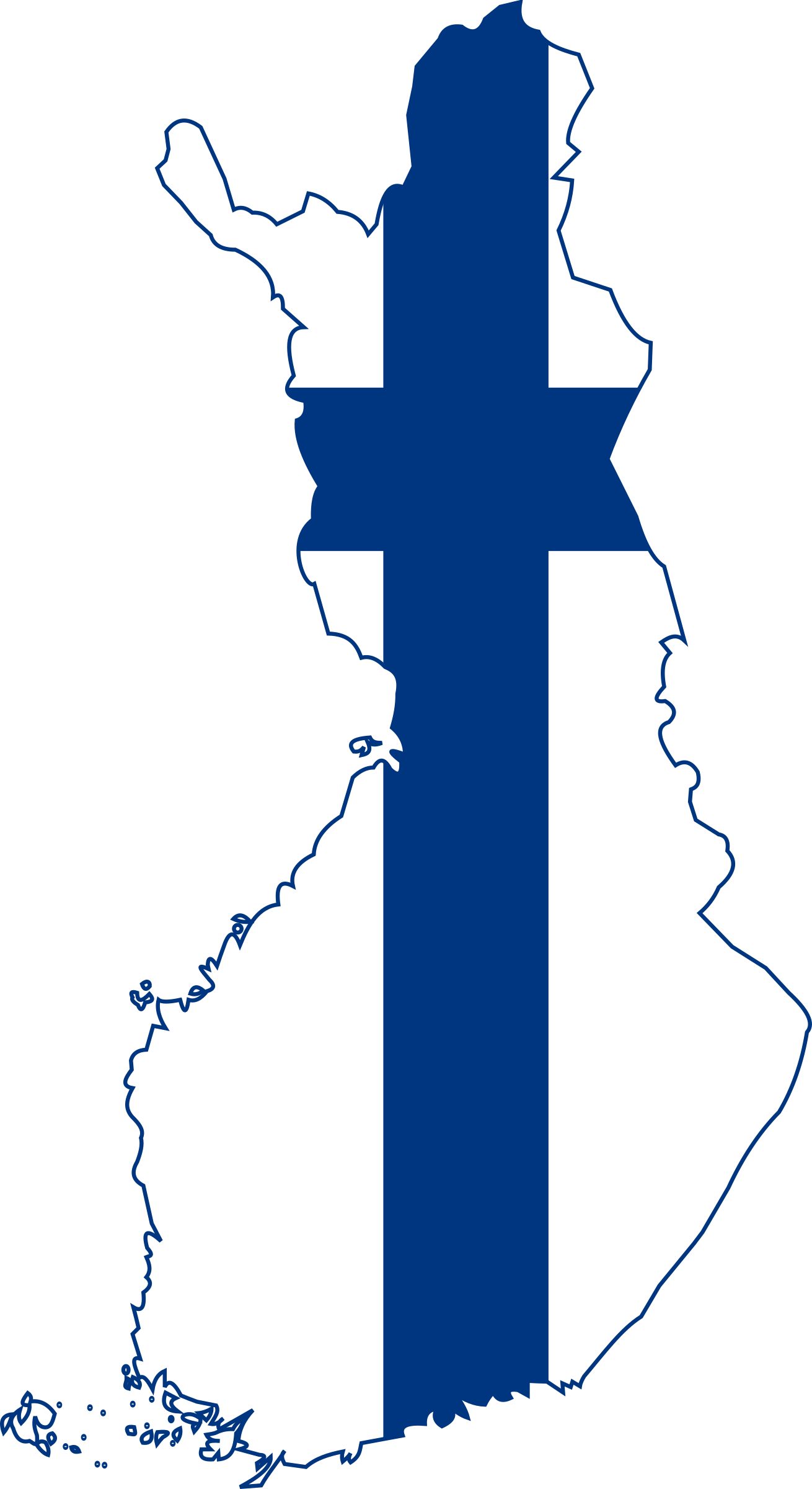 Finland map with flag by gatorgirl514