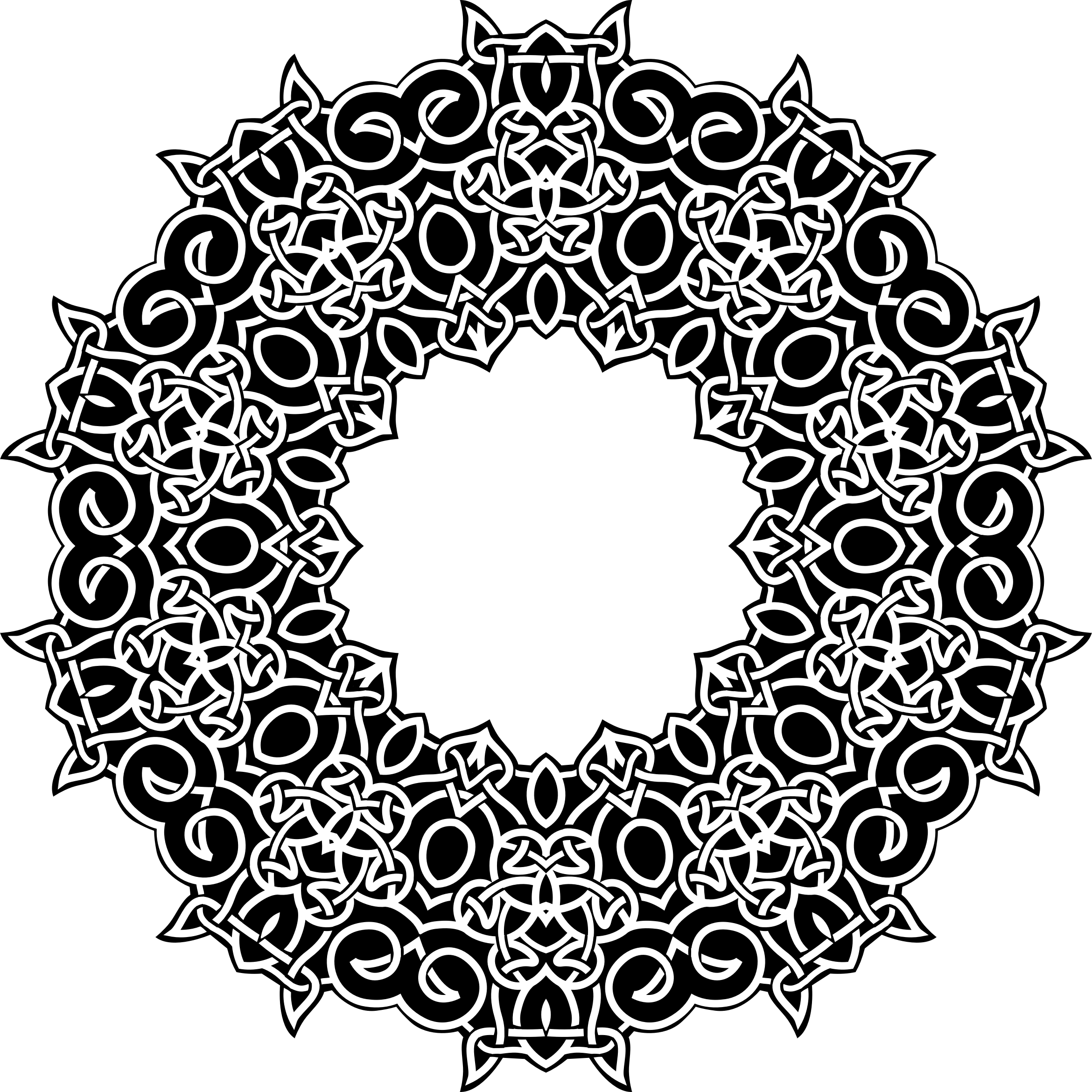 Celtic Knot Ornament Derivation by GDJ