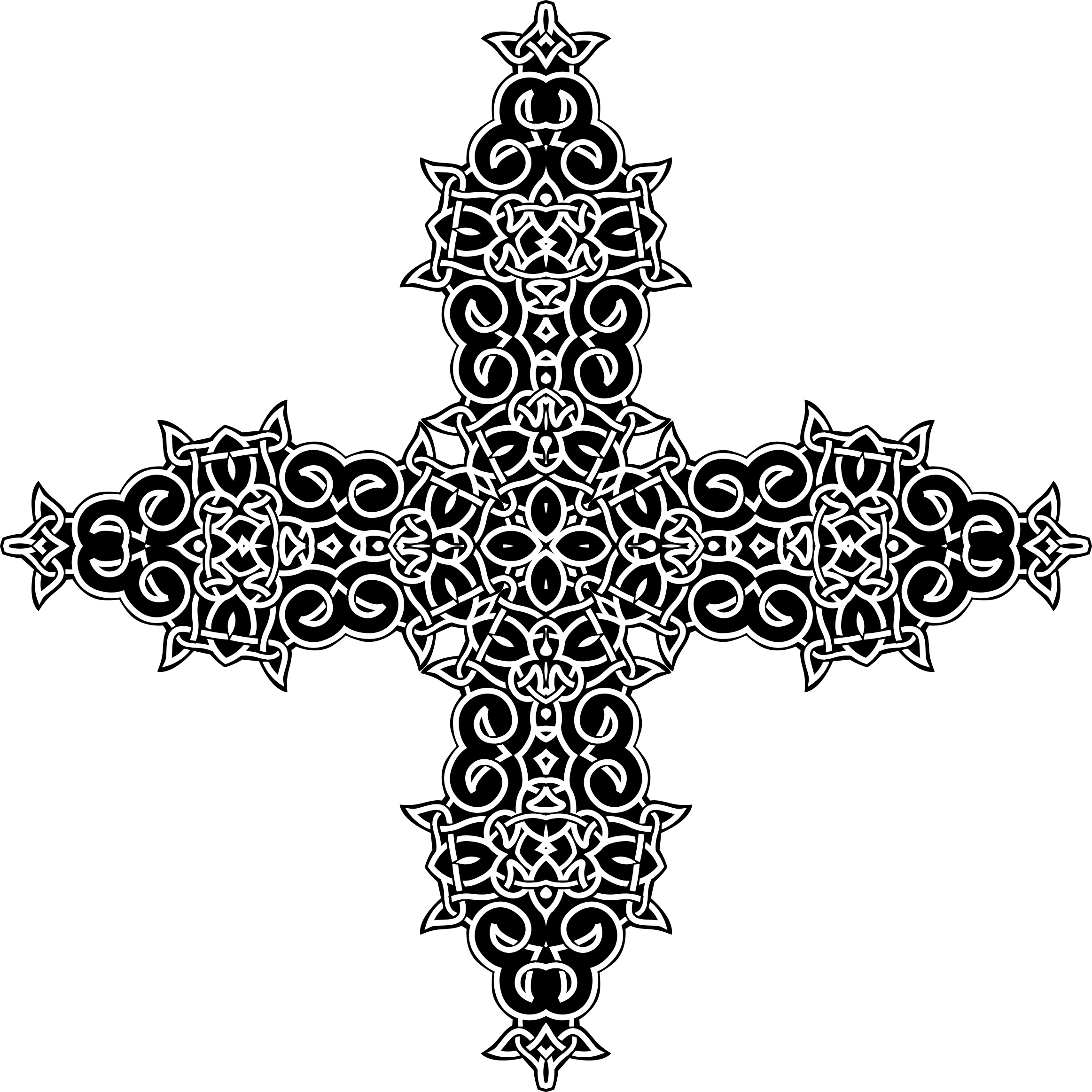 Celtic Knot Ornament Derivation Cross by GDJ