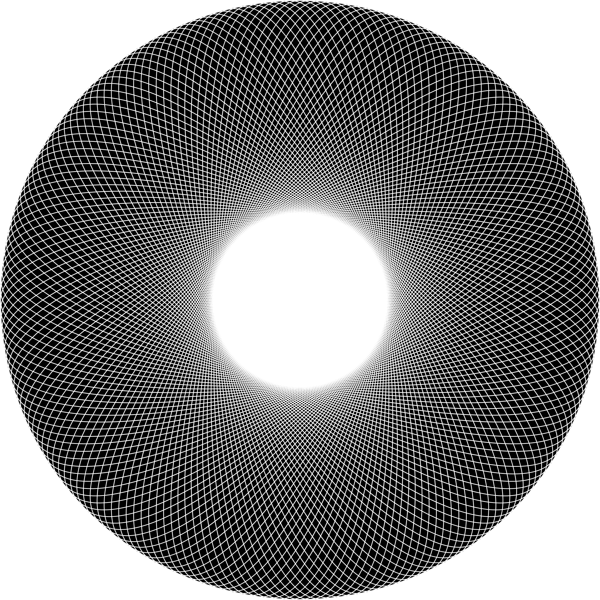 Geometric  Line Art Torus by GDJ