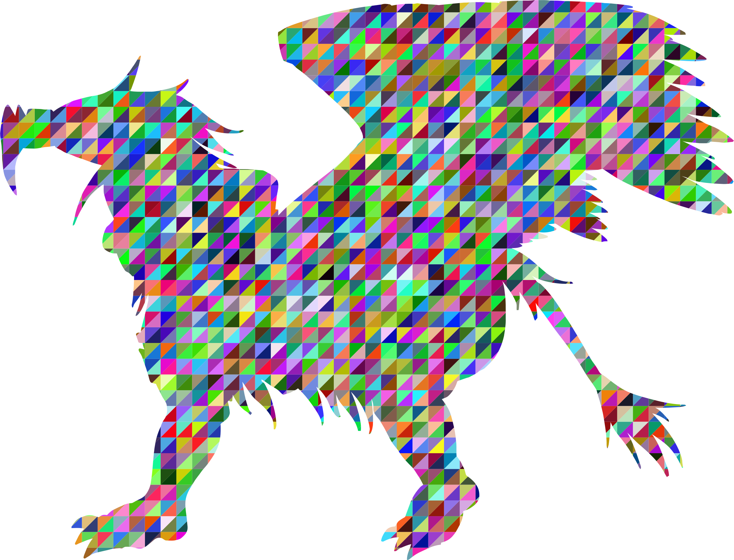 Low Poly Triangular Griffin Silhouette by GDJ