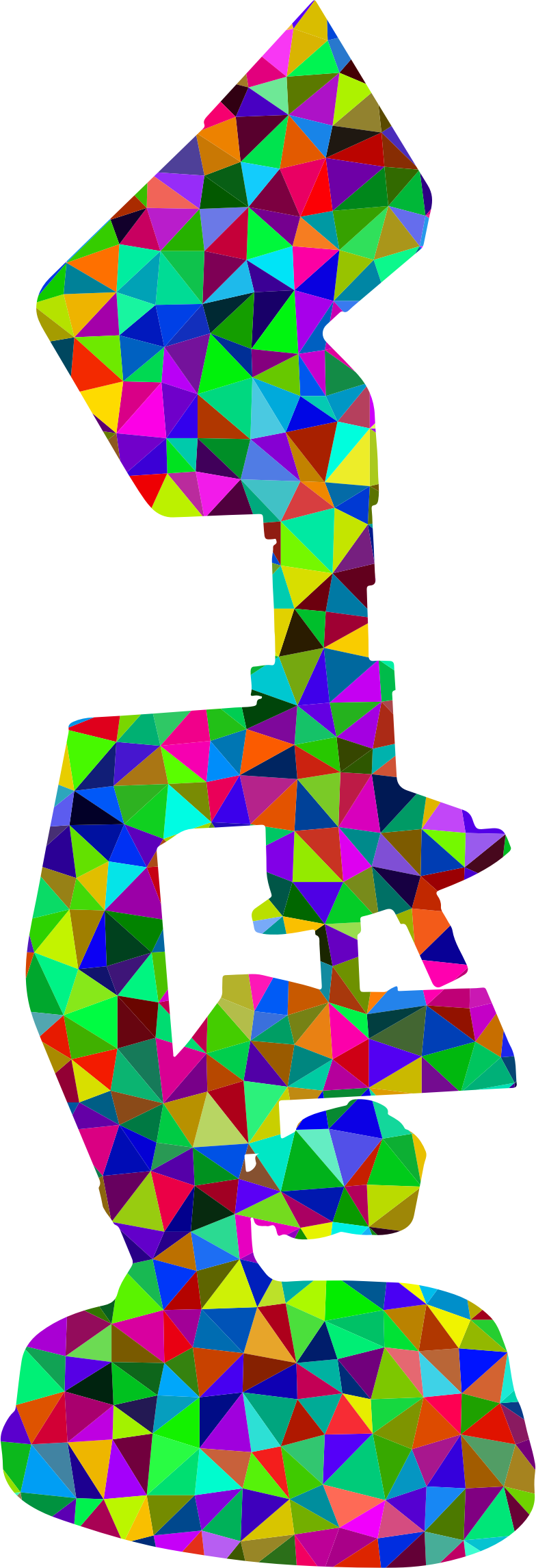 Low Poly Prismatic Microscope Silhouette by GDJ