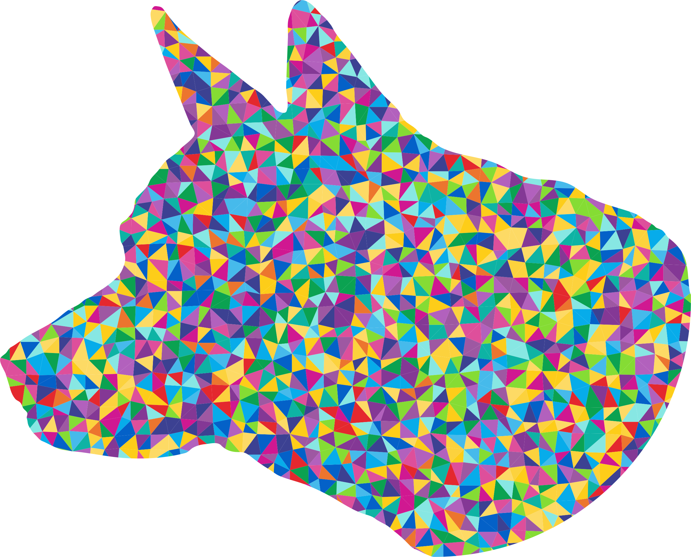 Low Poly Prismatic Dog Head Silhouette by GDJ