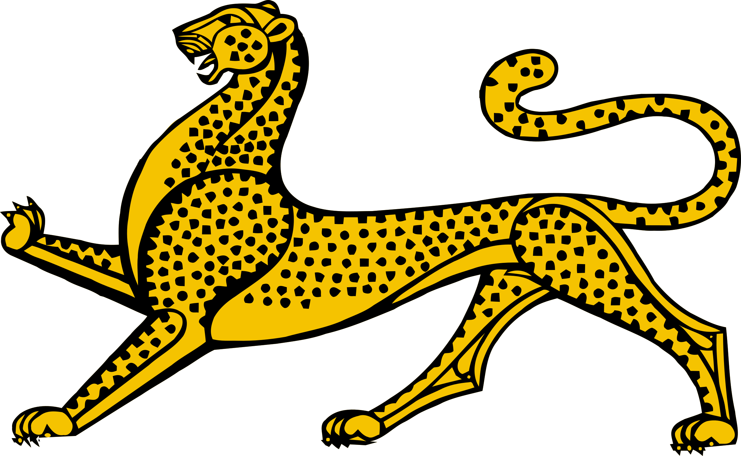 Stylised leopard by Firkin