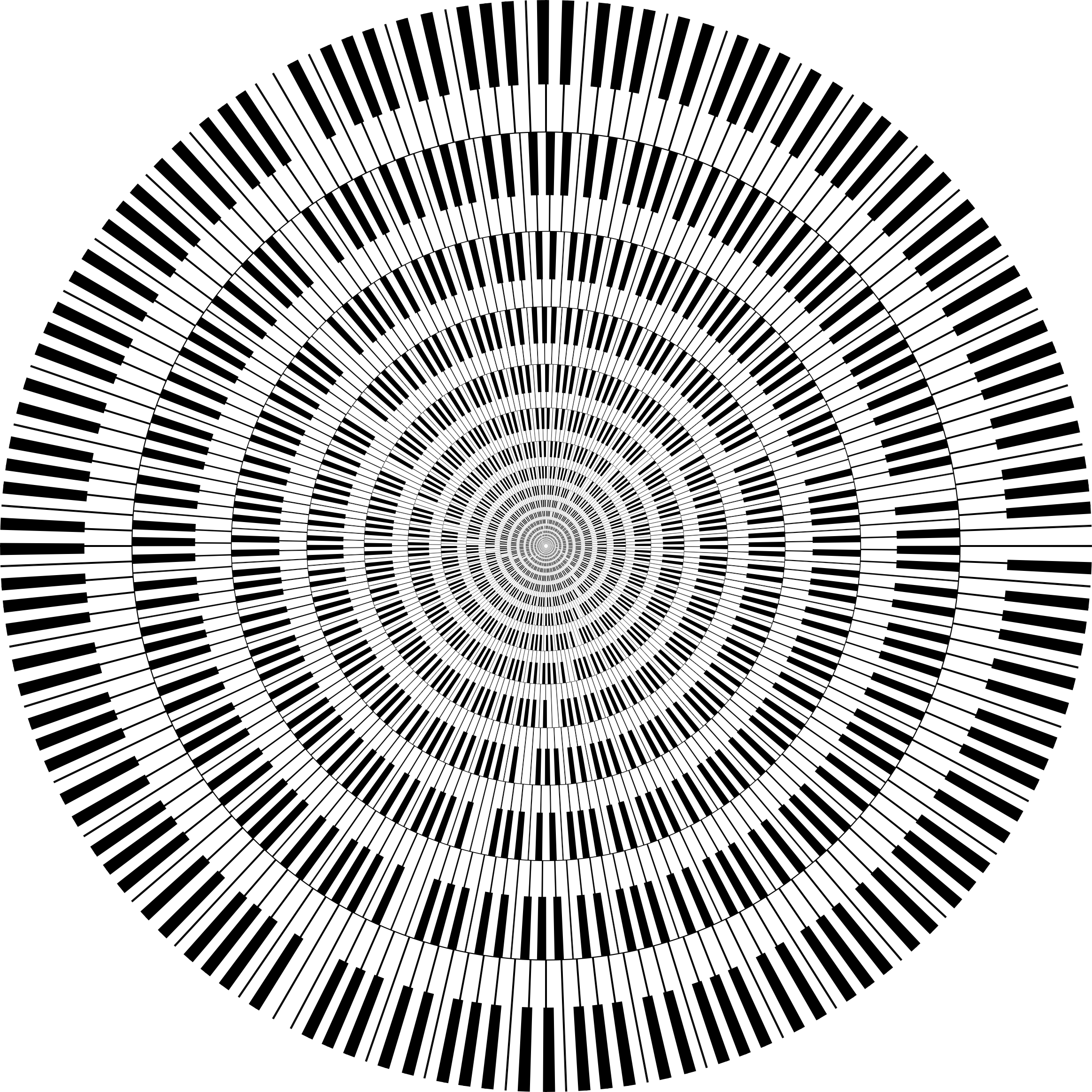 Piano Keys Circle Vortex by GDJ