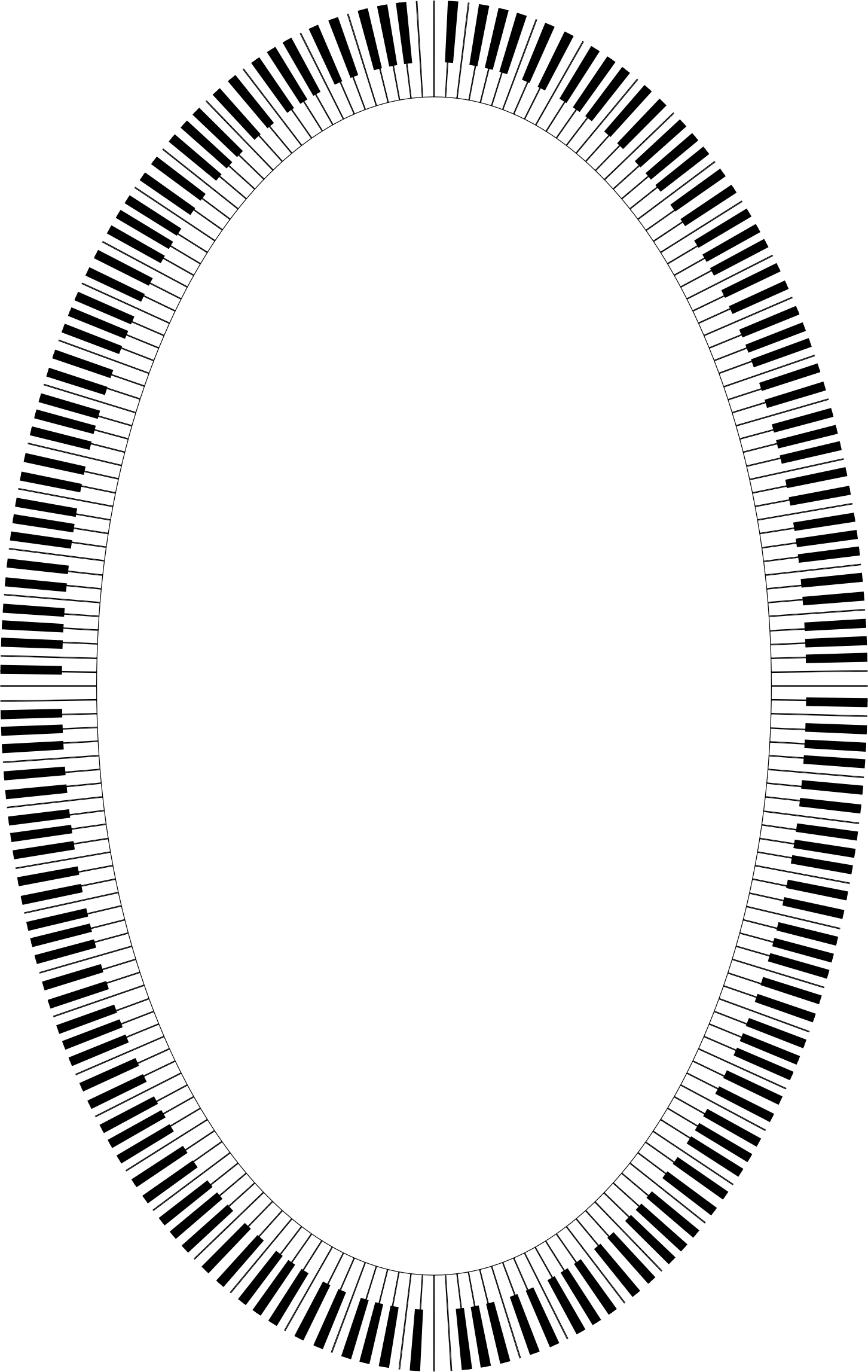 Piano Keys Ellipse by GDJ