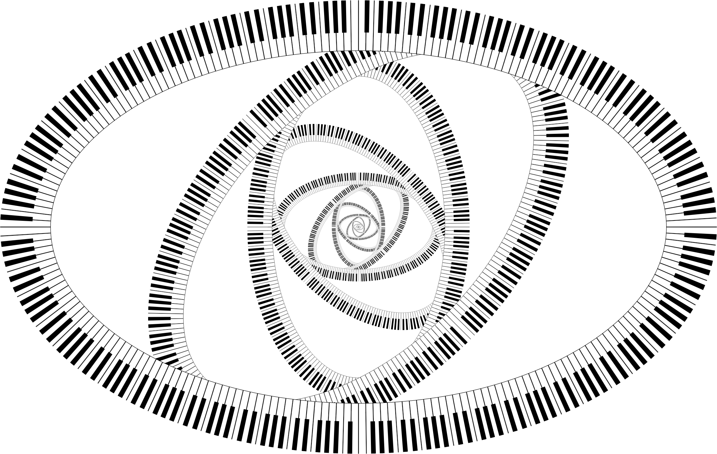 Clipart Piano Keys Ellipse Vortex