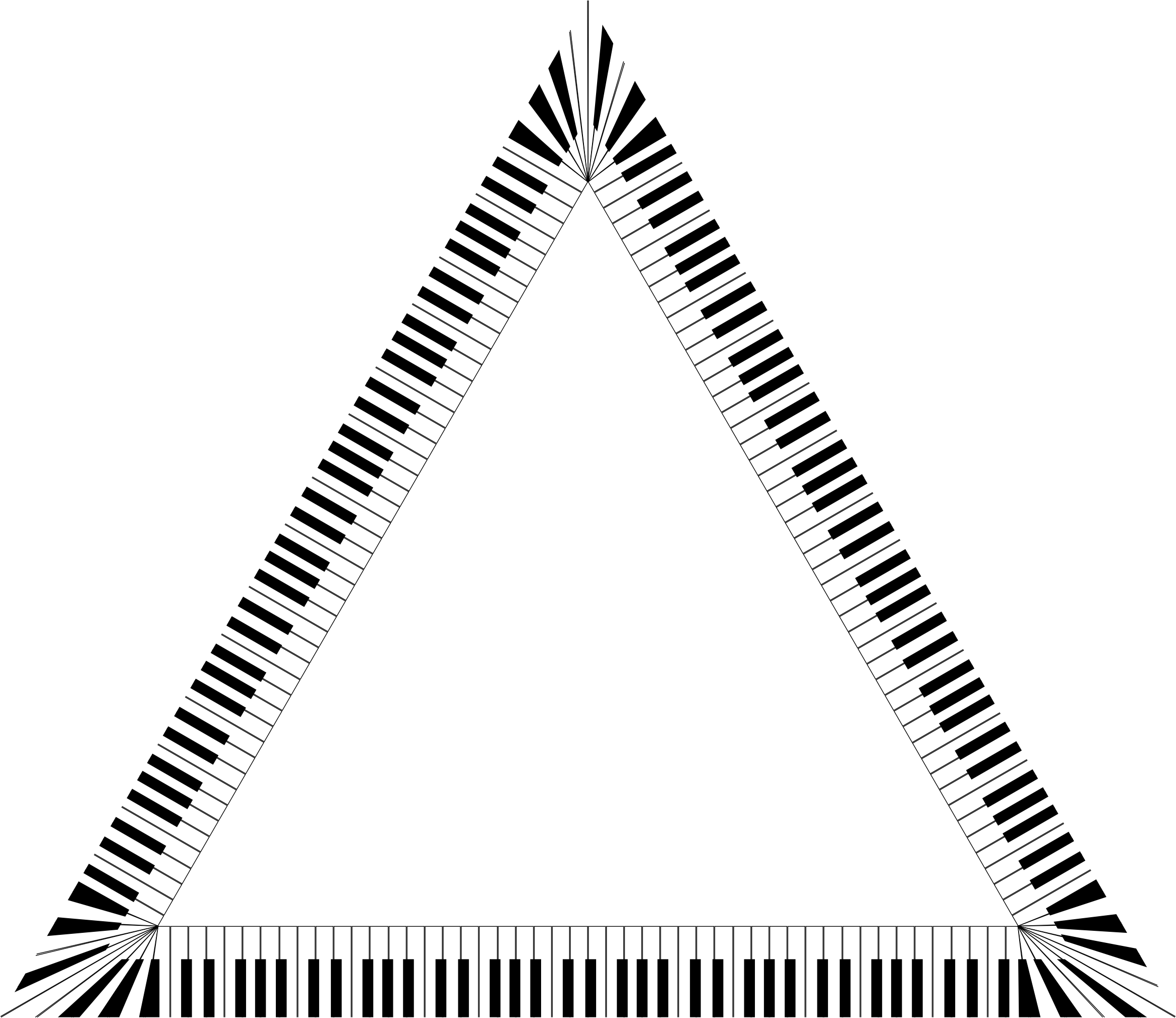 Piano Keys Triangle by GDJ