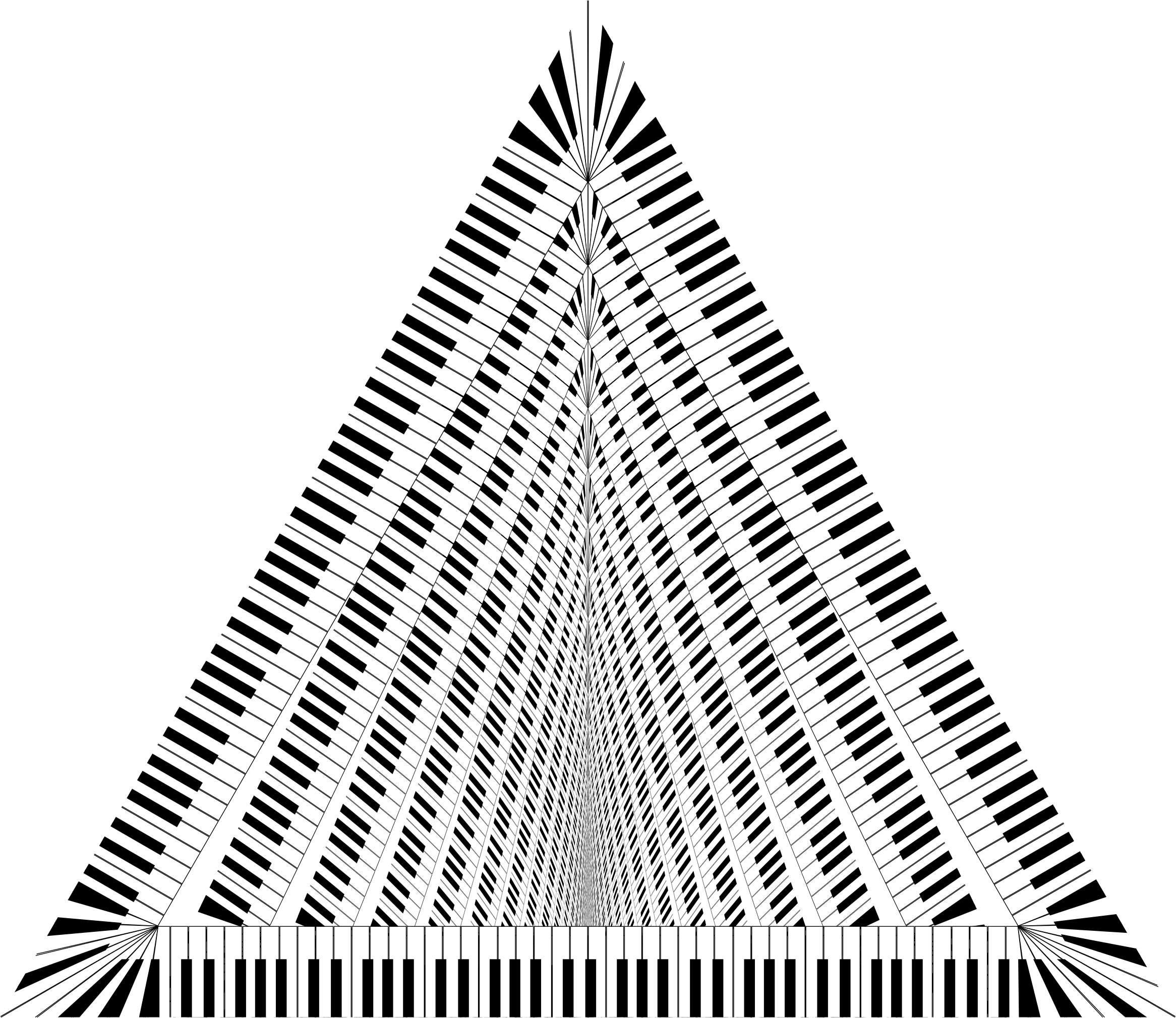Piano Keys Triangle Vortex by GDJ