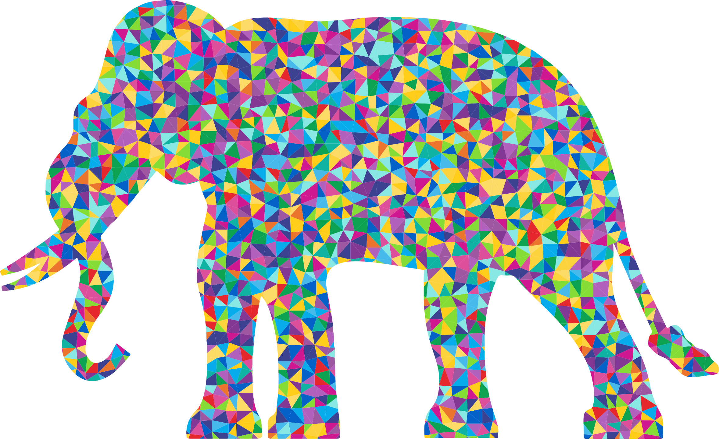 Low Poly Prismatic Elephant Silhouette by GDJ