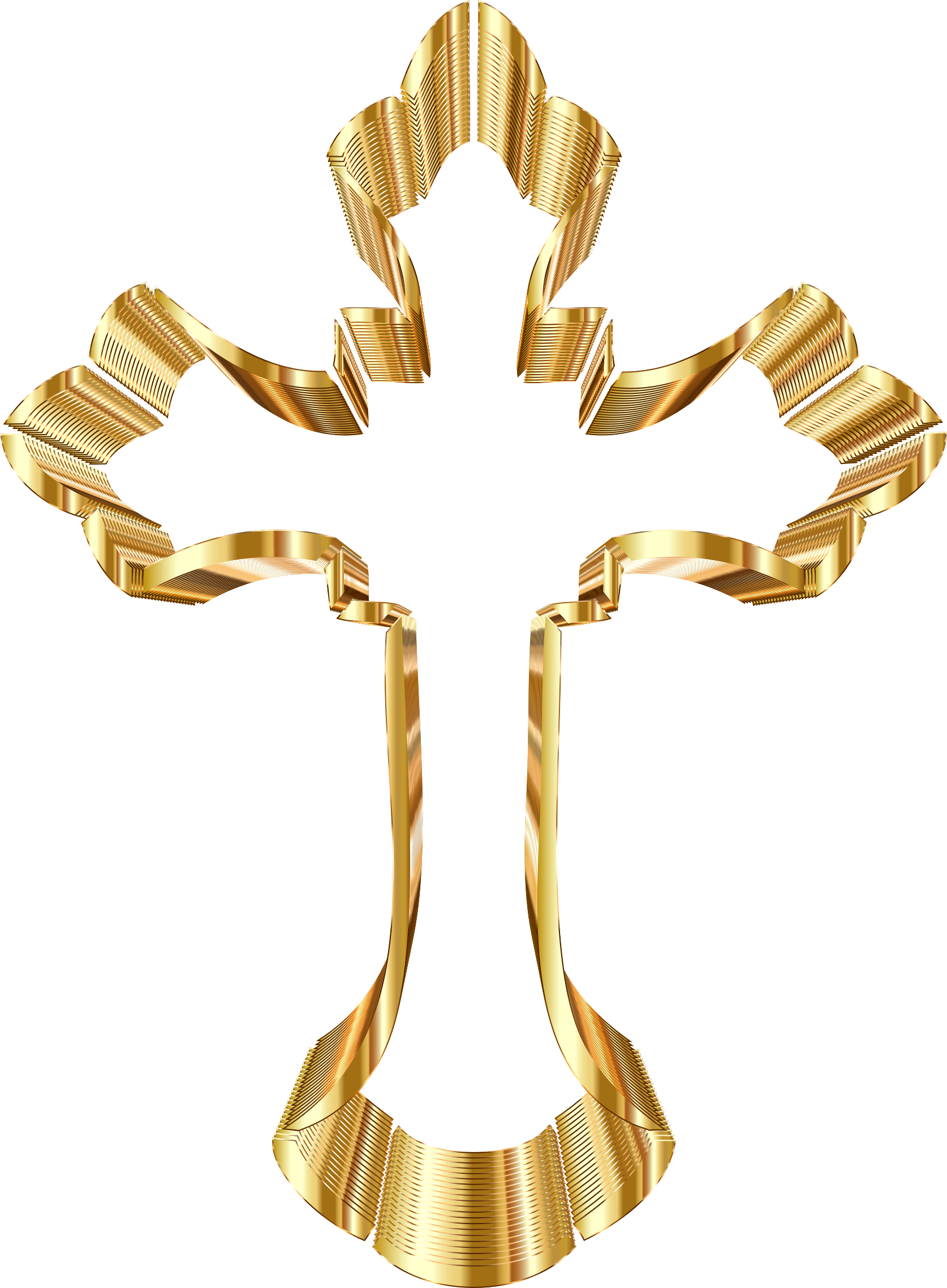 Gold Ornate Cross No Background by GDJ