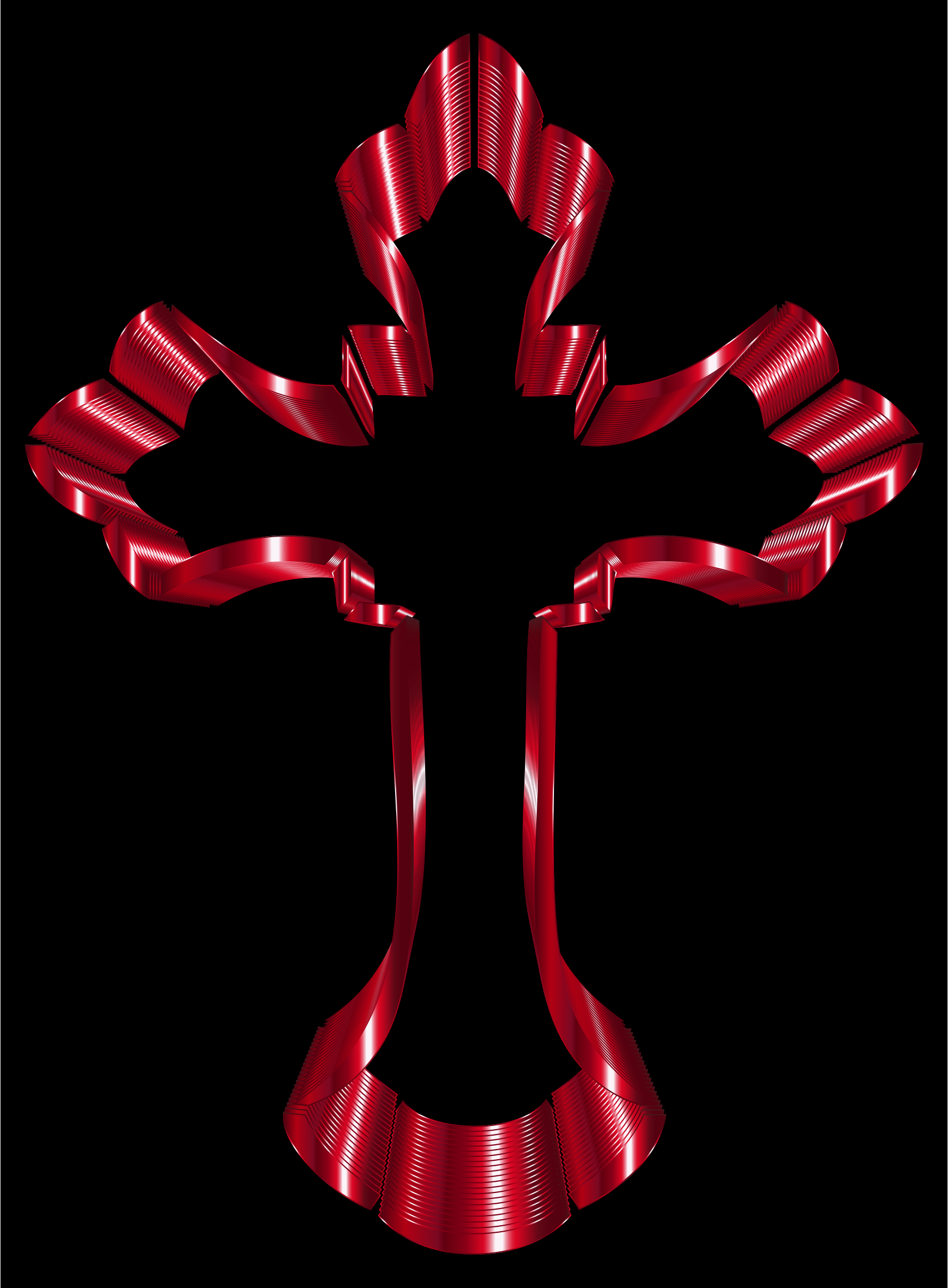 Crimson Ornate Cross by GDJ