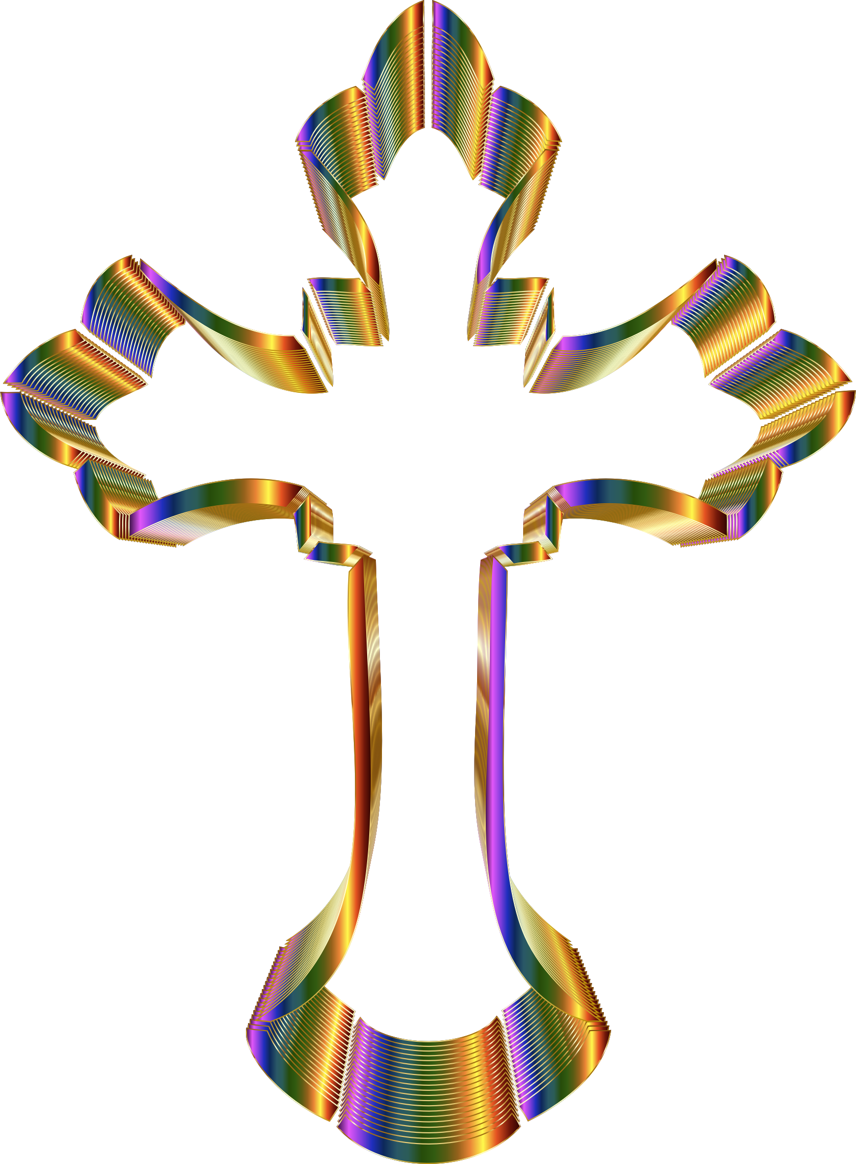 Prismatic Ornate Cross No Background by GDJ