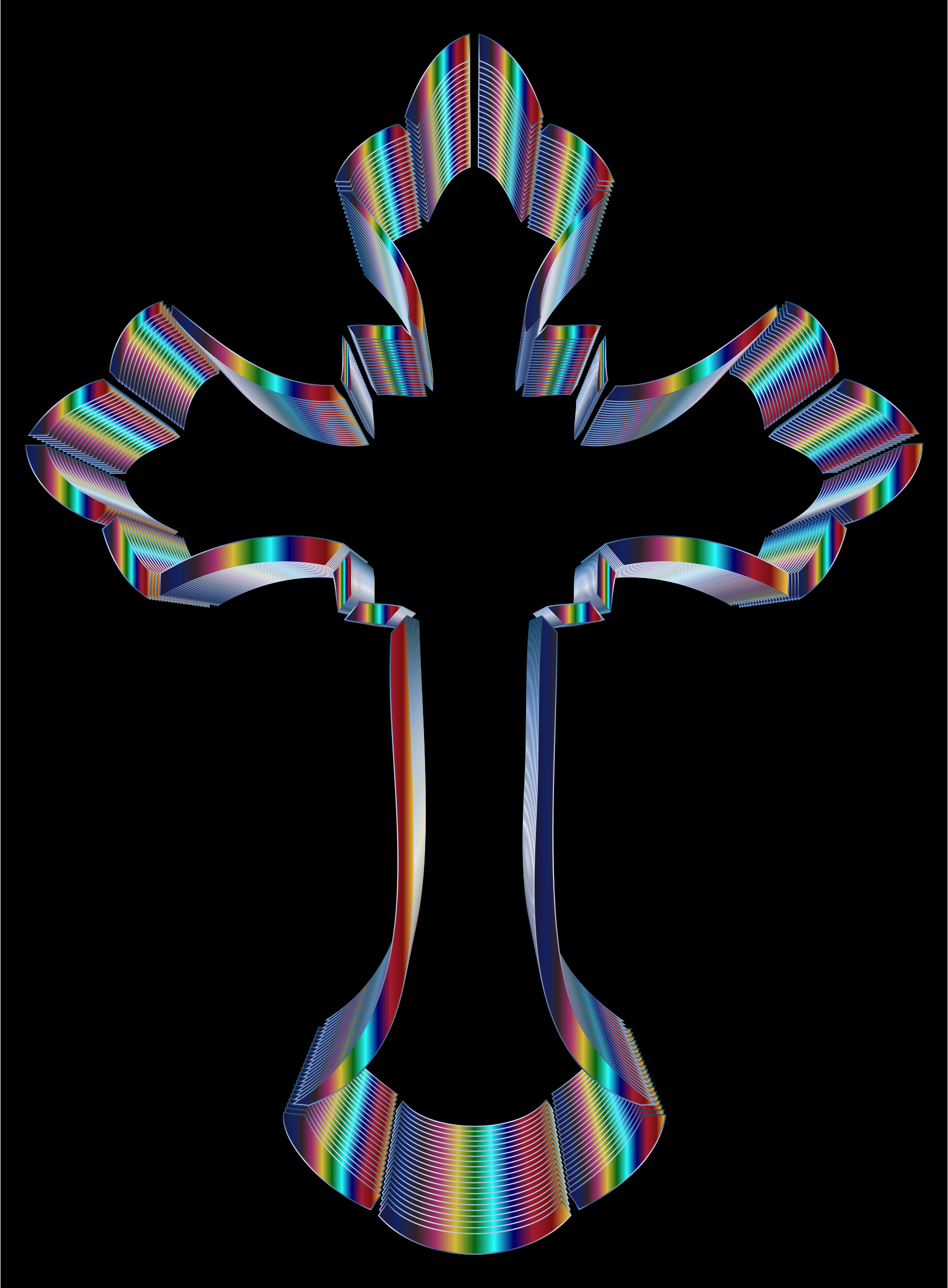 Iridescent Ornate Cross by GDJ