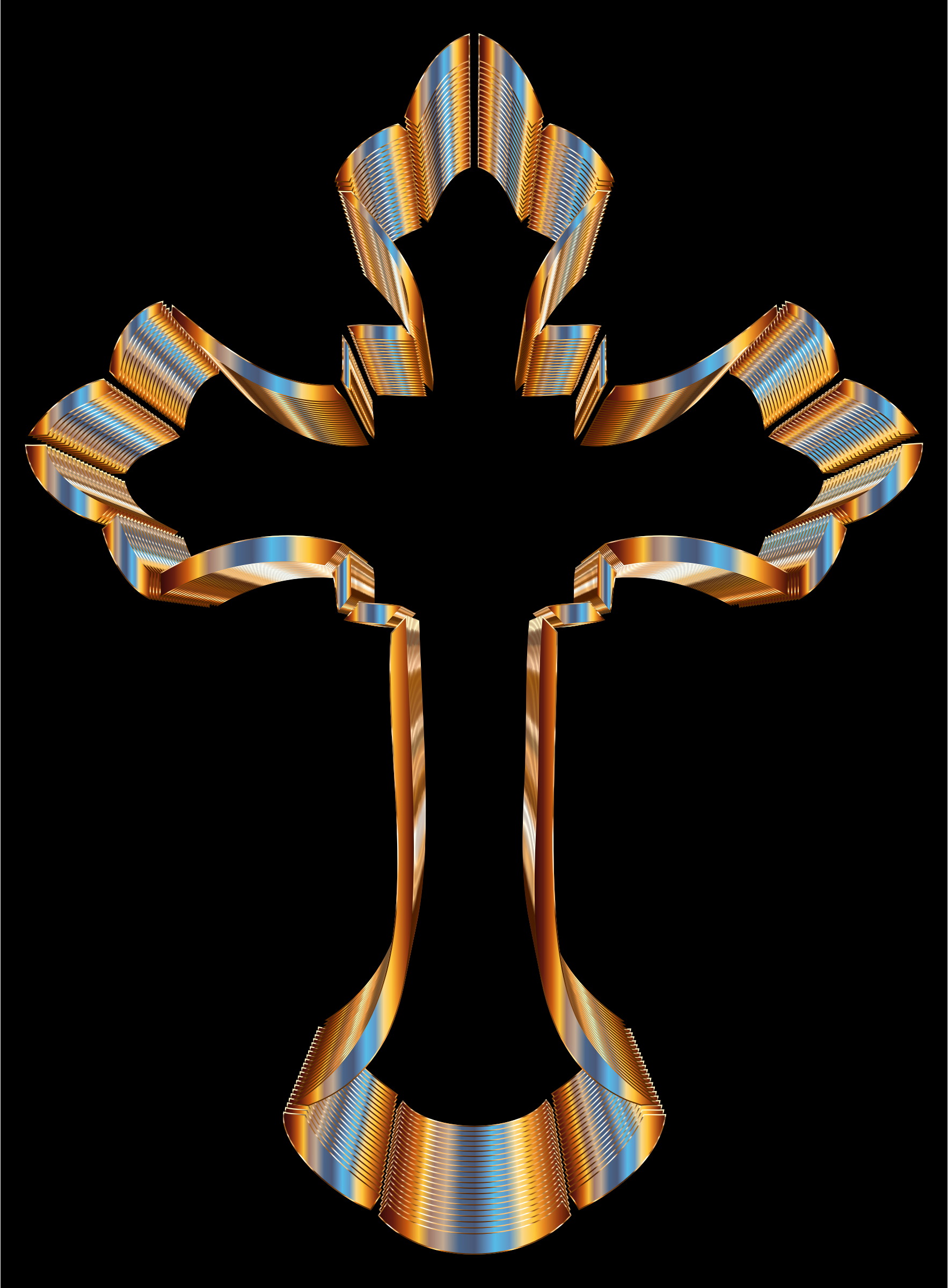 Chromatic Ornate Cross by GDJ