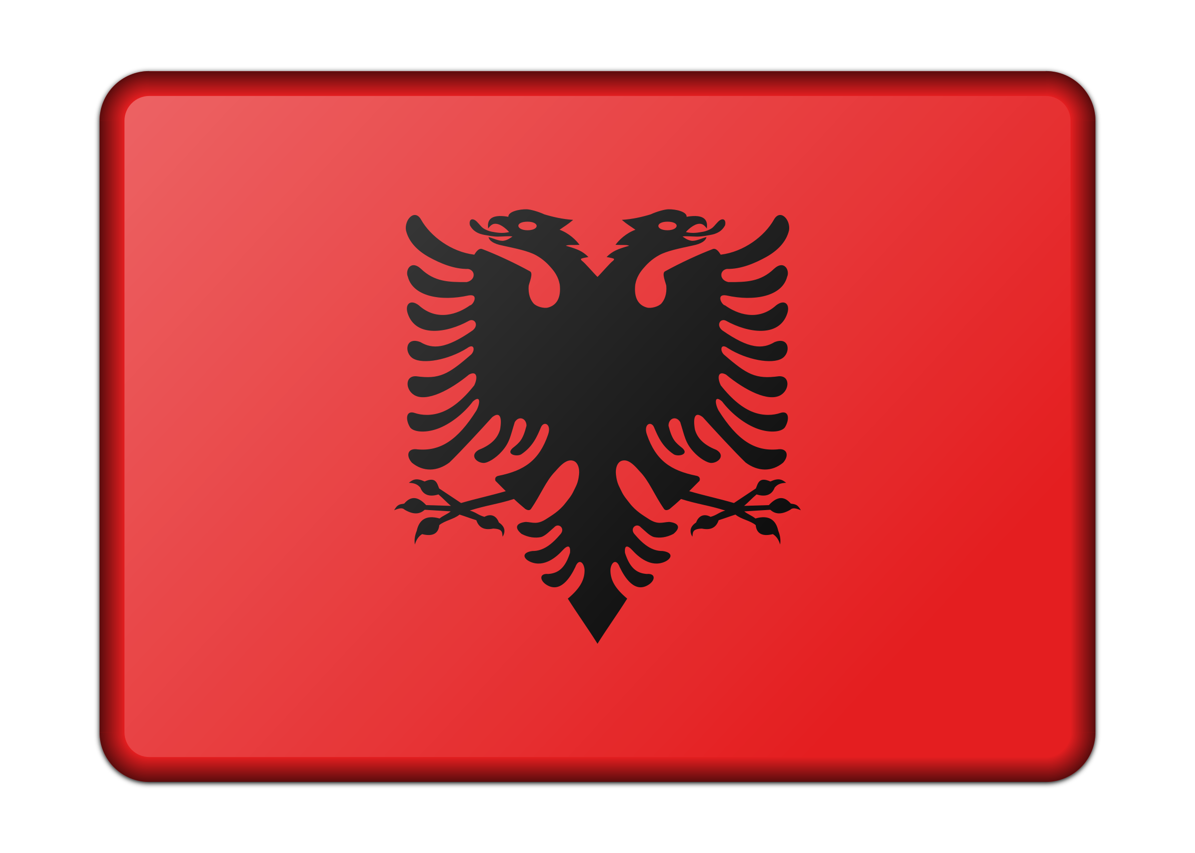 Albania flag (bevelled) by Firkin