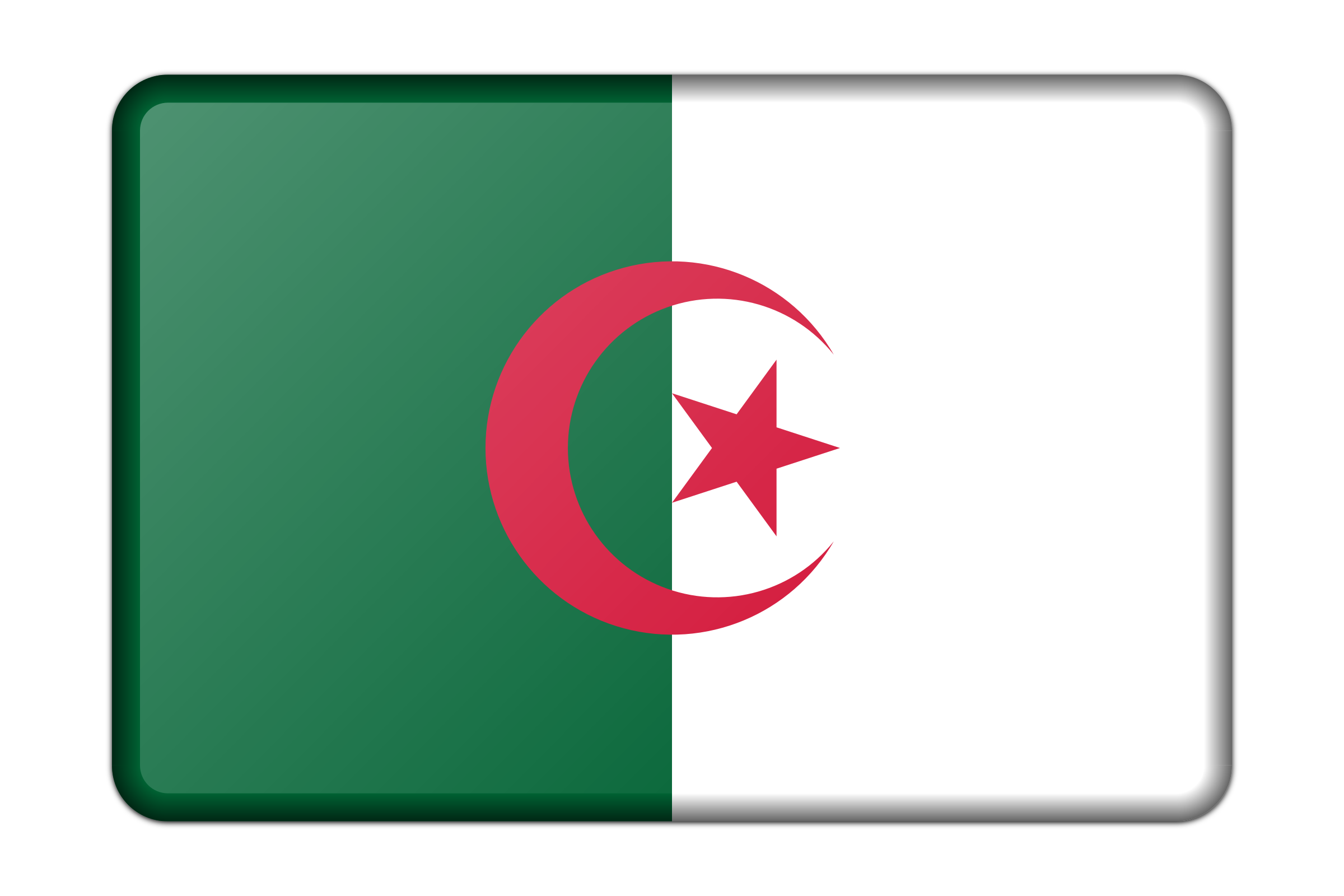 Algeria flag (bevelled) by Firkin