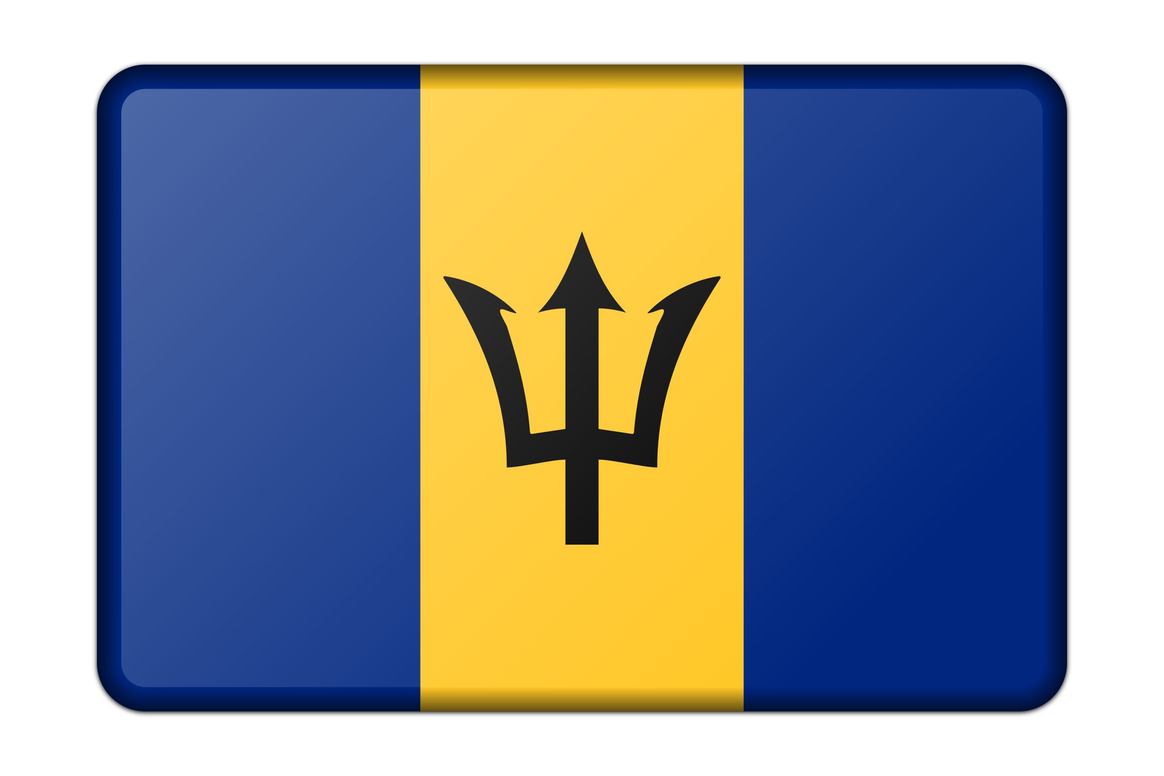 Barbados flag (bevelled) by Firkin