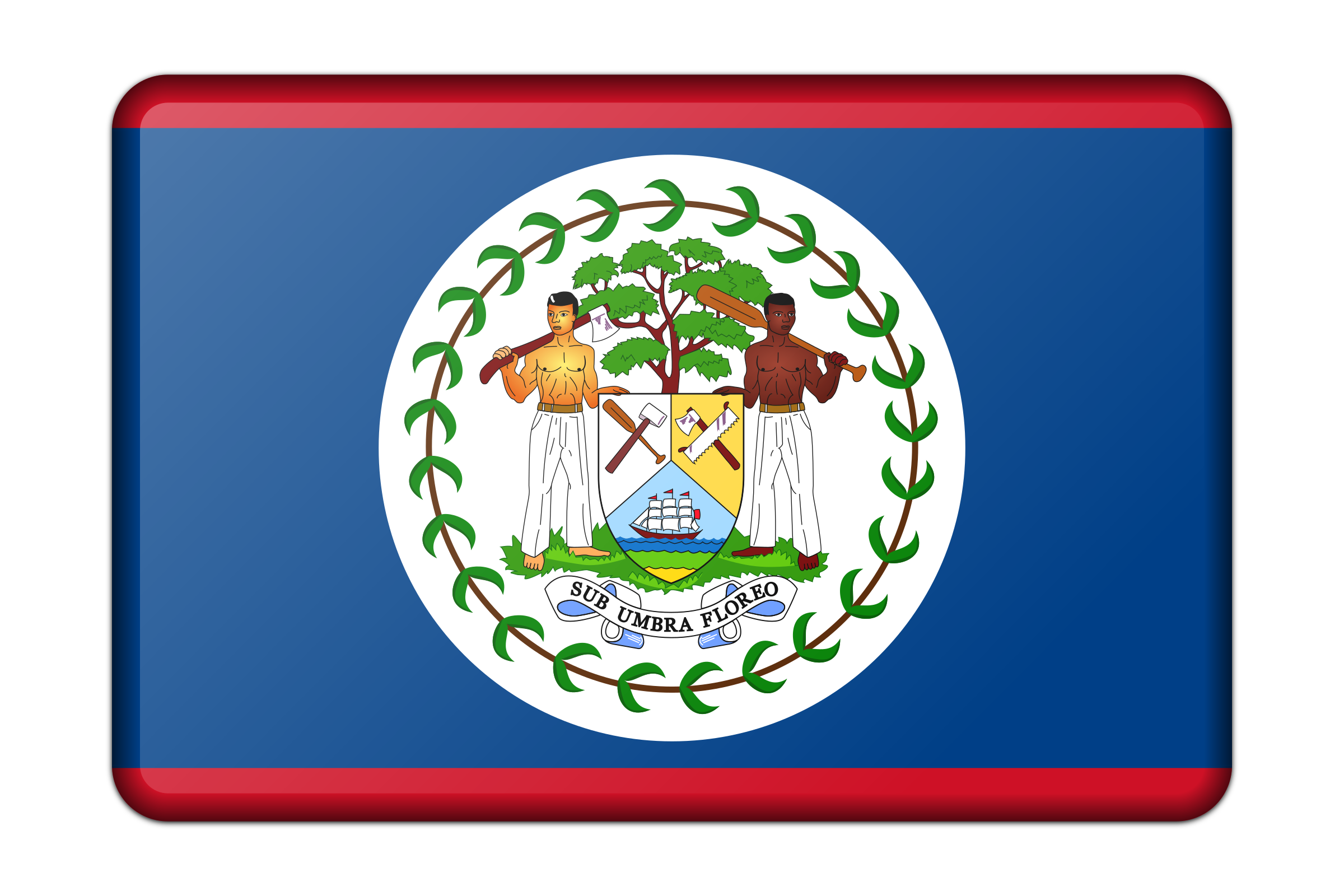 Belize flag (bevelled) by Firkin