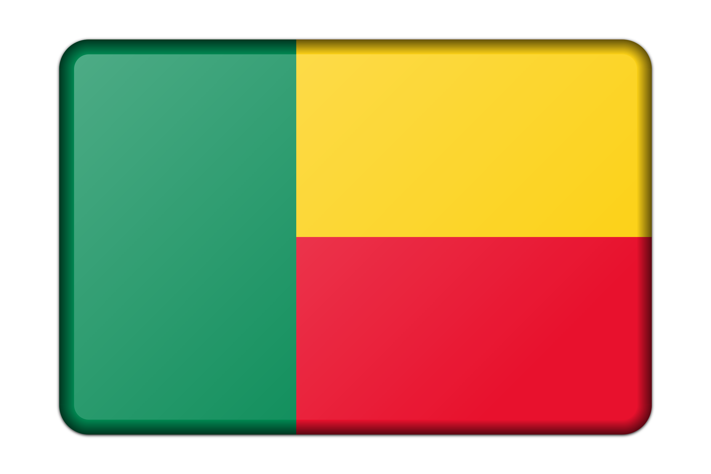 Benin flag (bevelled) by Firkin